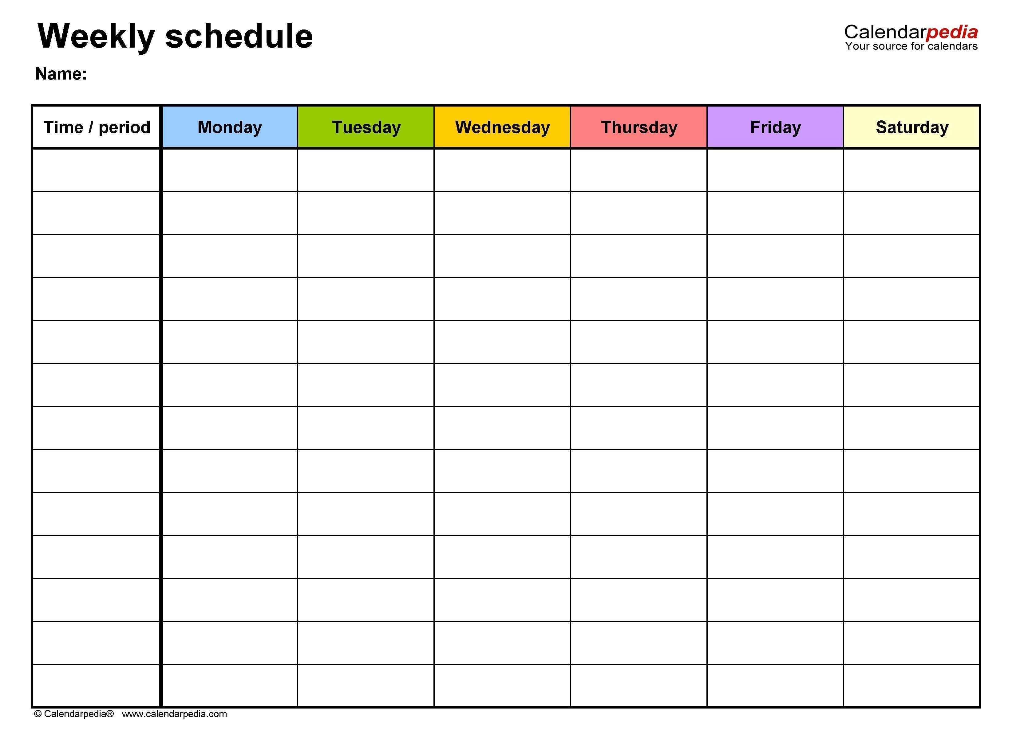 How To Printable 8 Week Calendar Excel Calendar Template Weekly Schedule Template Excel Schedule Templates