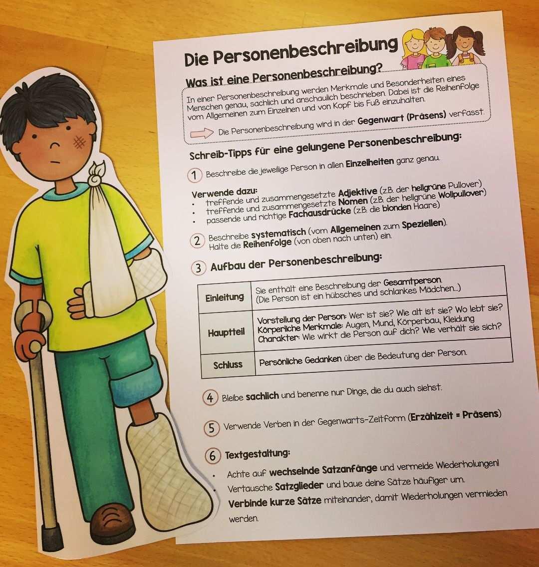 Heute Sind Wir In Die Neue Aufsatzeinheit Zum Thema Personenbeschreibung Gestartet Die Ki Personenbeschreibung Personenbeschreibung Grundschule Grundschule