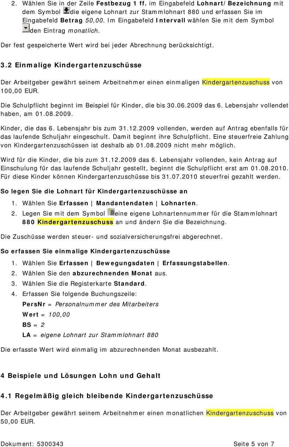Kindergartenzuschusse Lexikon Lohn Und Personal Pdf Free Download