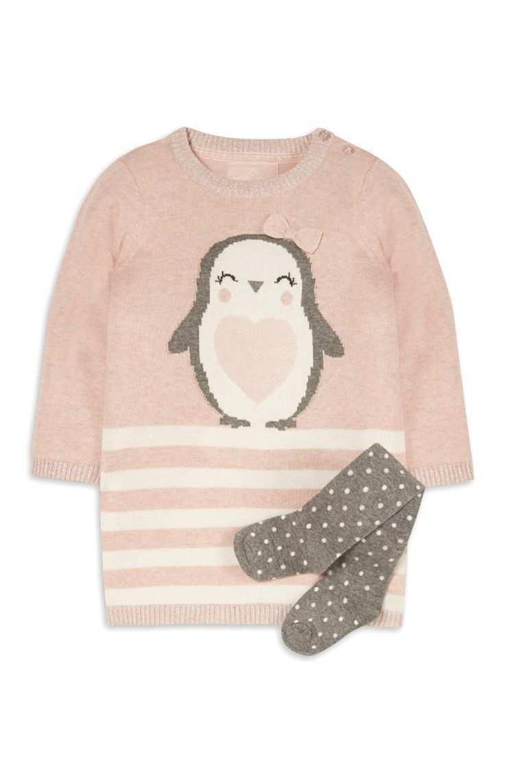 Pinkes Strickkleid Im Set Fur Babys M Babykleidung Madchen Kleinkind Madchen Mode Modische Madchen