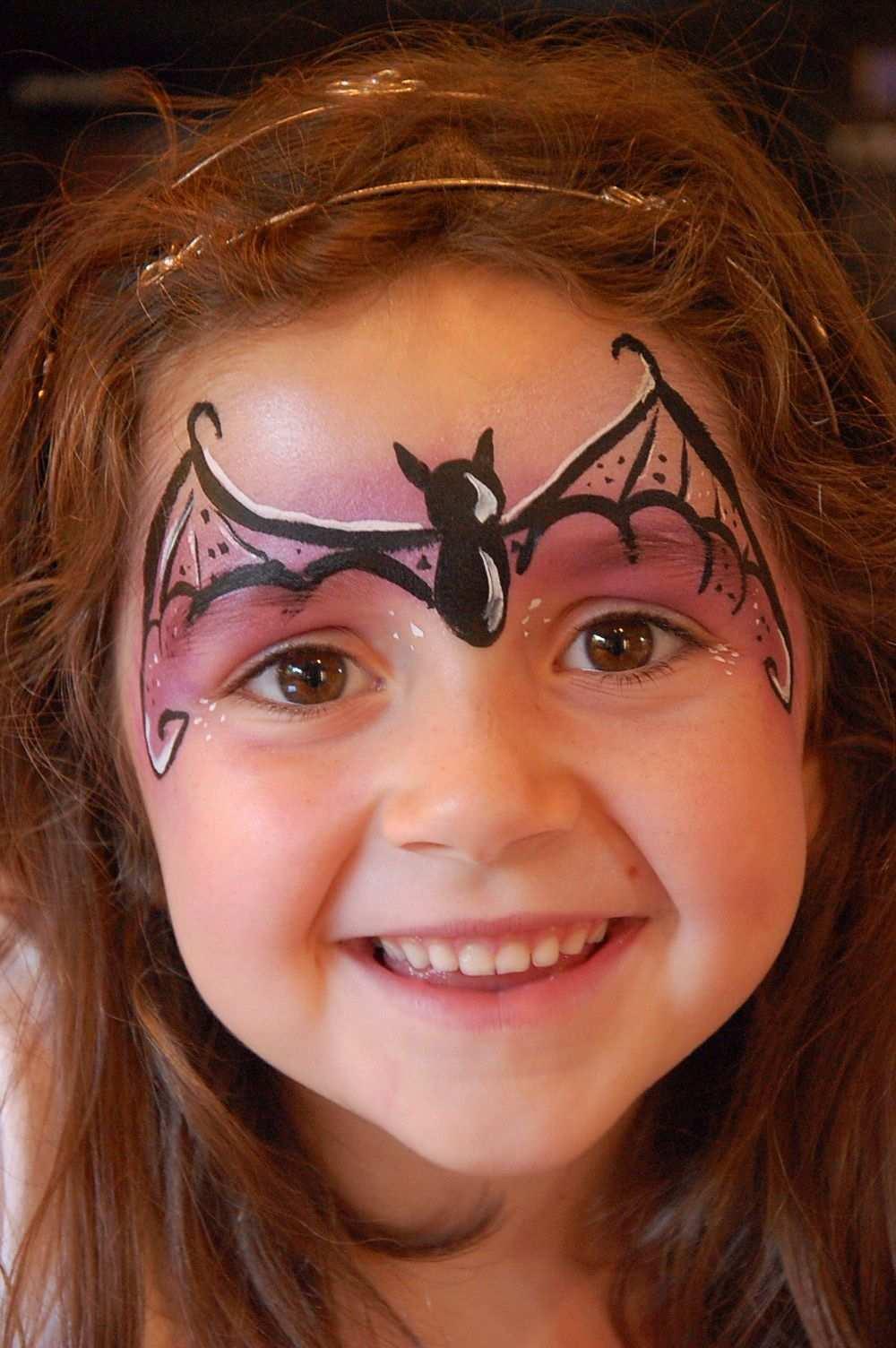 Bat Girl Face Paint Kinder Schminken Halloween Schminken Kinder Kinderschminken Halloween