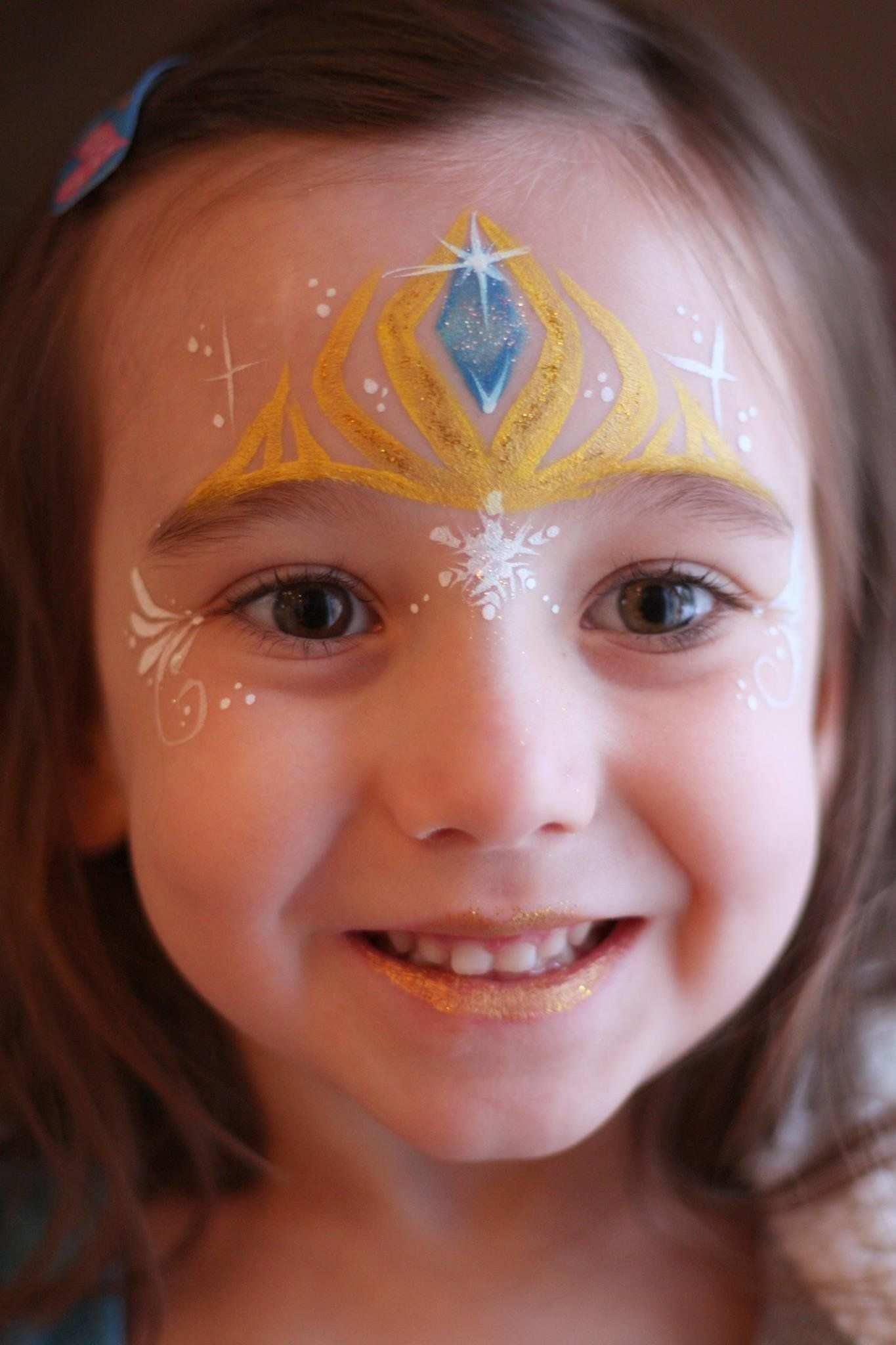 Frozen Face Painting Kinderschminken Kinder Schminken Kinder Schminken Prinzessin