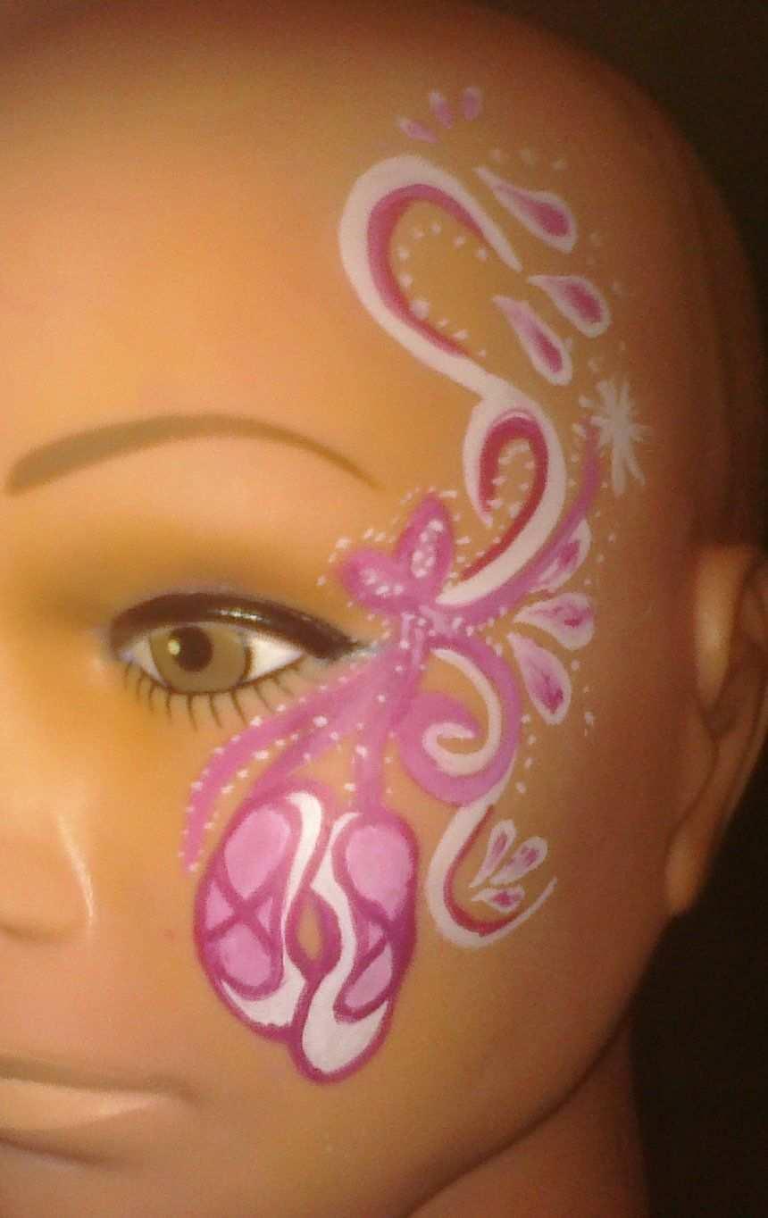 Ballerina Bemalte Gesichter Kinder Schminken Madchen Schminken