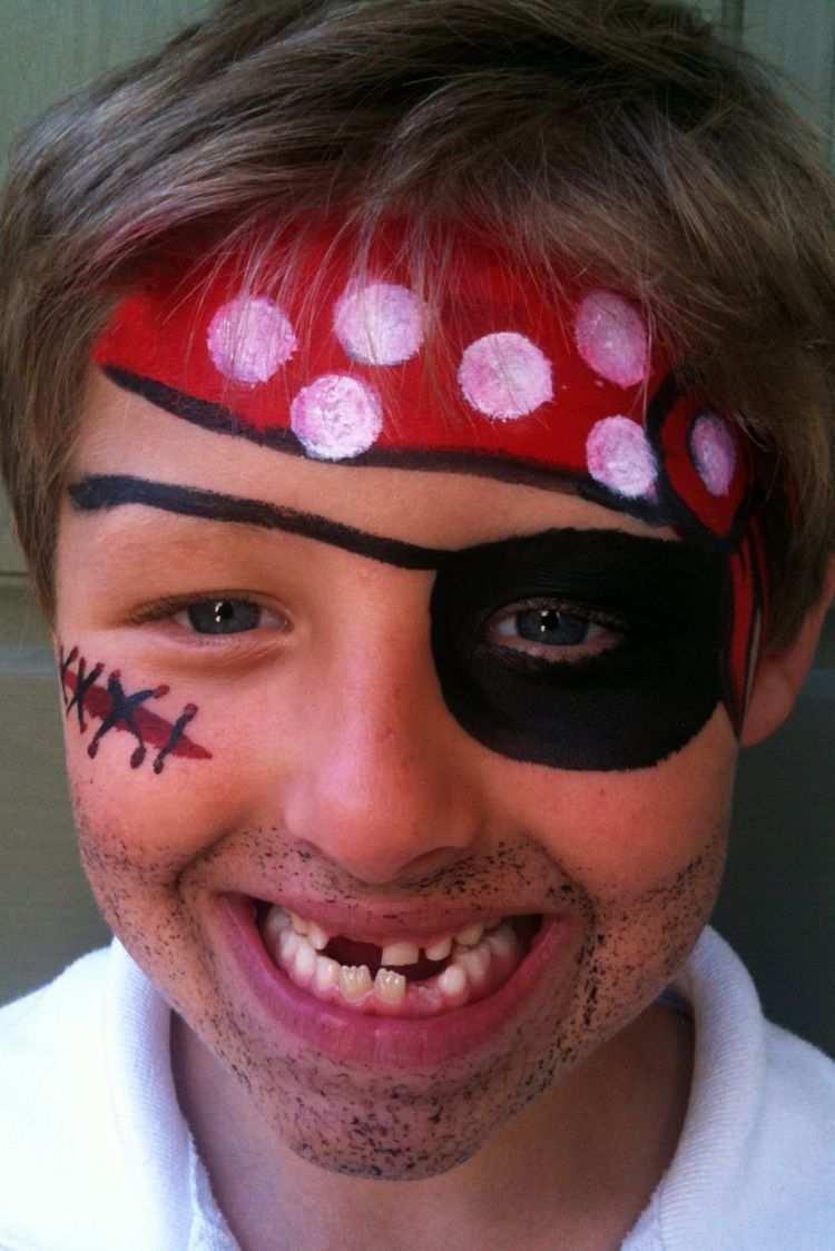 Pirat Kinder Schminken Ideen Jungs Augenklappe Kinder Schminken Kinderschminken Kinderschminken Jungs