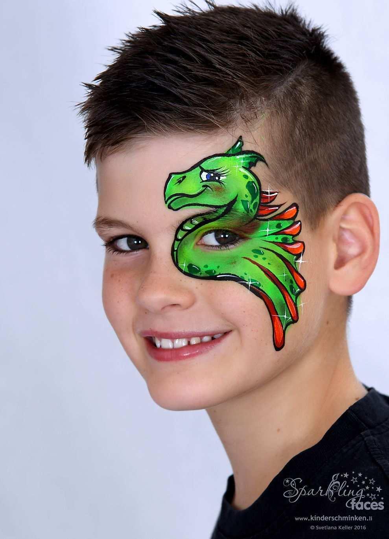 Www Kinderschminken Li Kinderschminken Kinderschminken Vorlagen Schminkfarben Kaufen Kin Face Painting Designs Dragon Face Painting Face Painting Halloween