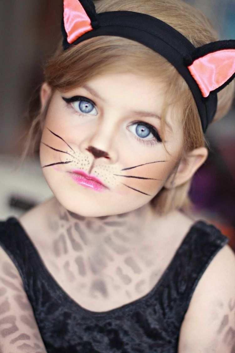 20 Fasching Kostume Fur Kinder Schminke Bastelideen Fasching Schminken Katze Schminken Kinder Schminken