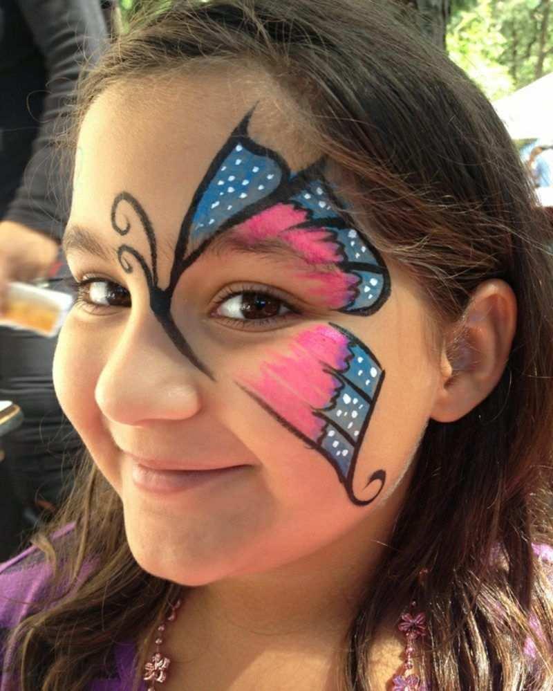 Halloween Kinderschminken Schmetterling Madchen Halloween Makeup Schminken Kids Kinder Kinder Schminken Kinderschminken Halloween Schminken Kinder