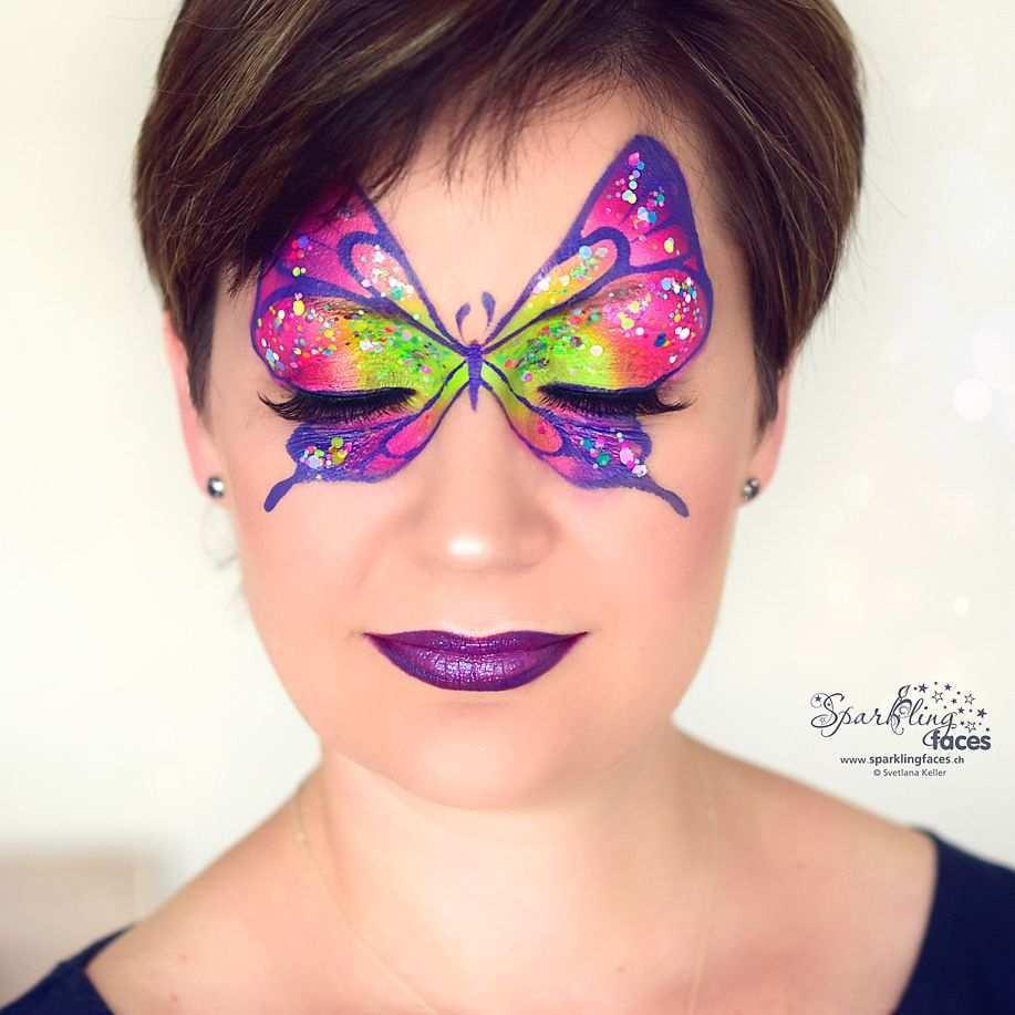 Kinderschminken Schmetterling In 2020 Kinderschminken Bemalte Gesichter Kinder Schminken