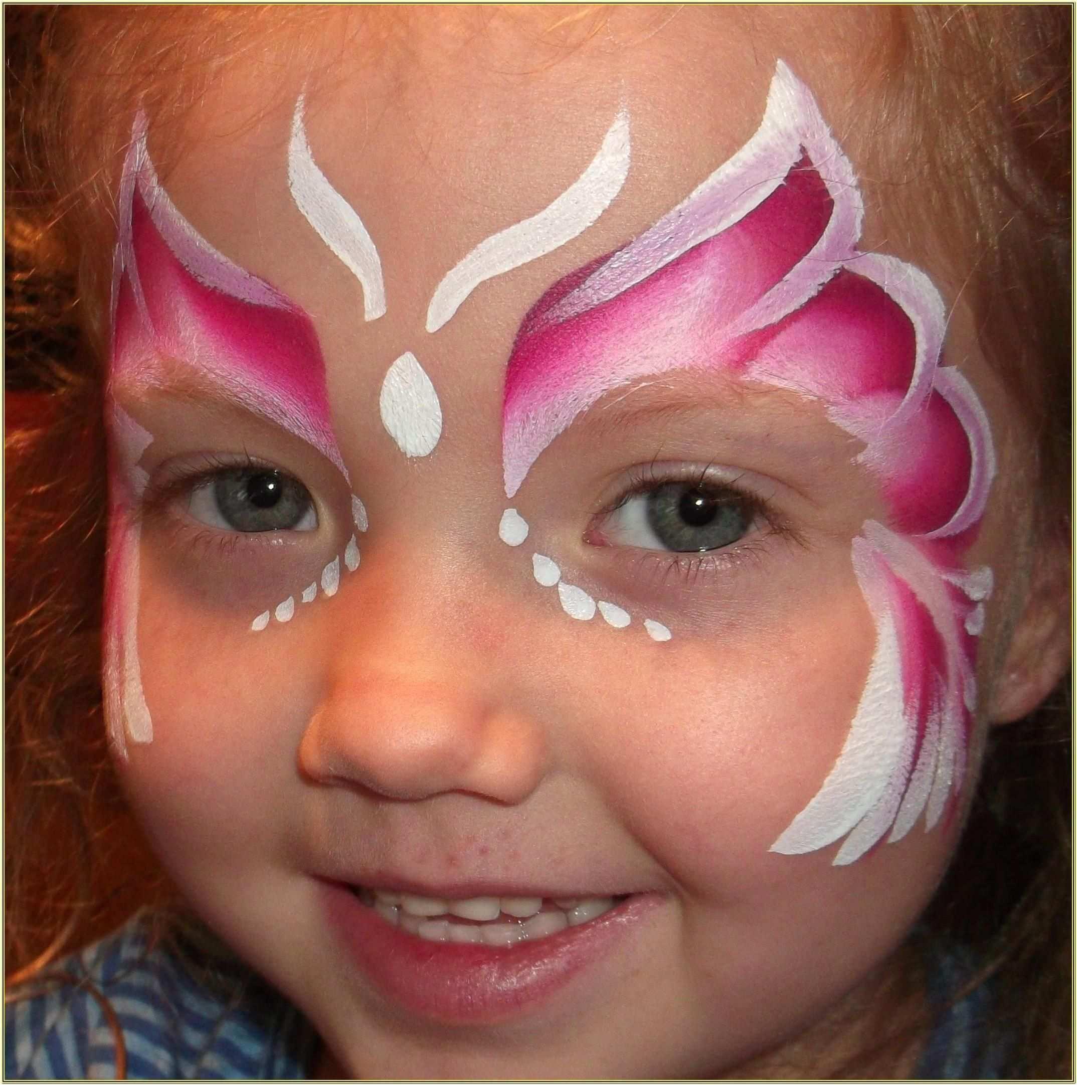 Schmetterling Schminken Einfache Gesichtsmalerei Bemalte Gesichter Kinder Schminken