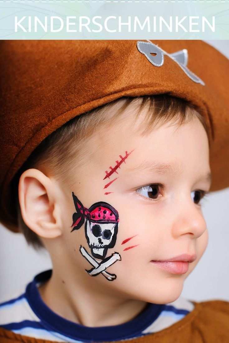 Pirat Schminken Das Geht Ganz Einfach Schminkanleitung Kinderschminken Junge Fasching Kinder Kinder Schminken Pirat Schminken Pirat Schminken Kinder
