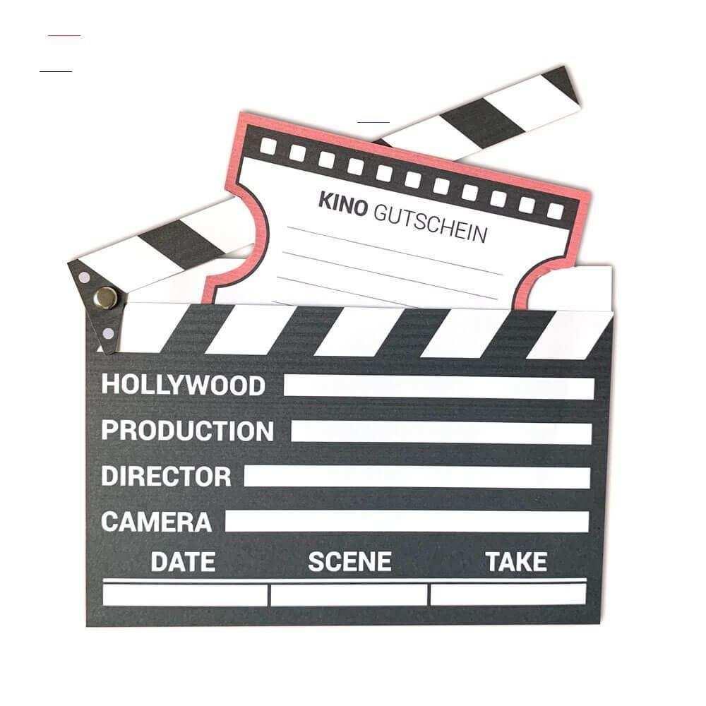 Kinogutschein Als Filmklappe Basteln Mini Presents Blog Kinoboxgeschenk Nutze Die Kostenlo In 2020 Sister Birthday Presents Popcorn Box Template Videos Tutorial