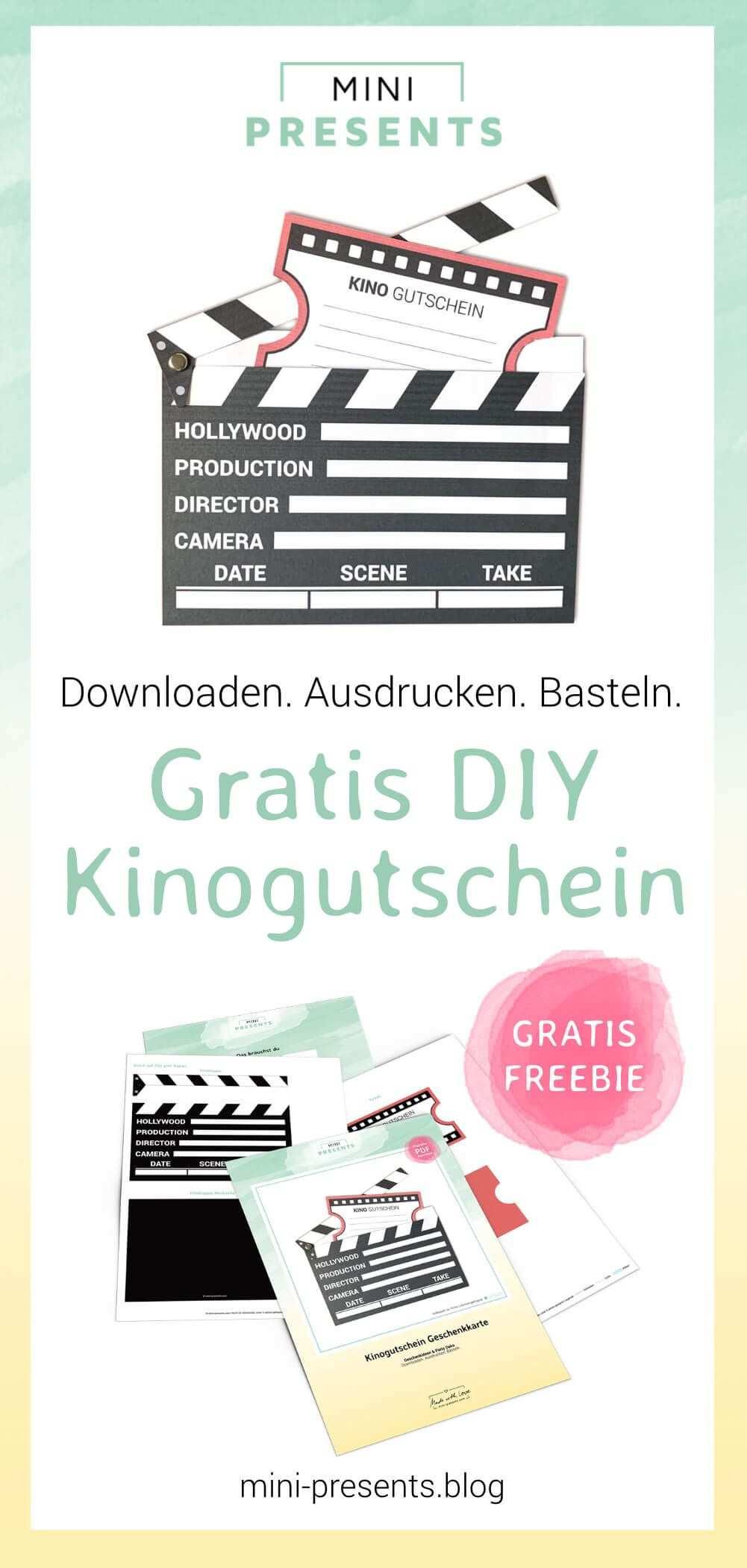Kinogutschein Als Filmklappe Basteln Mini Presents Blog Kinogutschein Gutschein Basteln Kino Kinogutschein Basteln