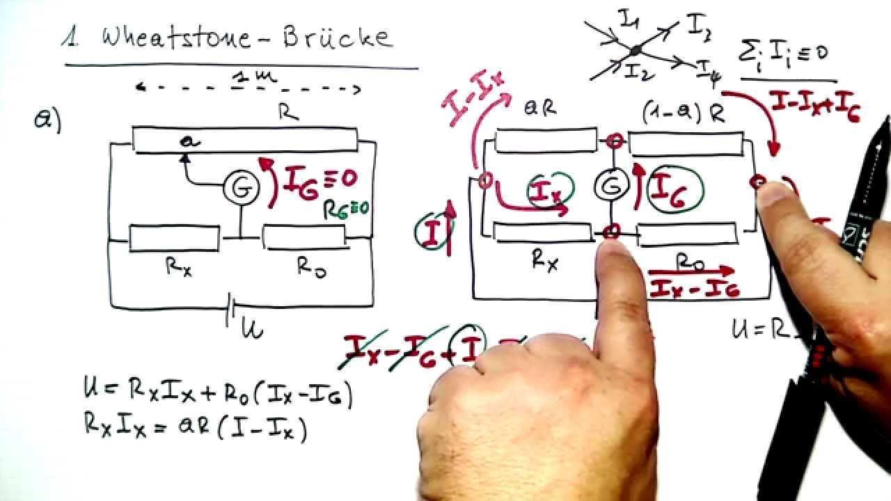 Wheatstone Brucke Beispiel Aufgabe Losung Physik Lernvideo Youtube