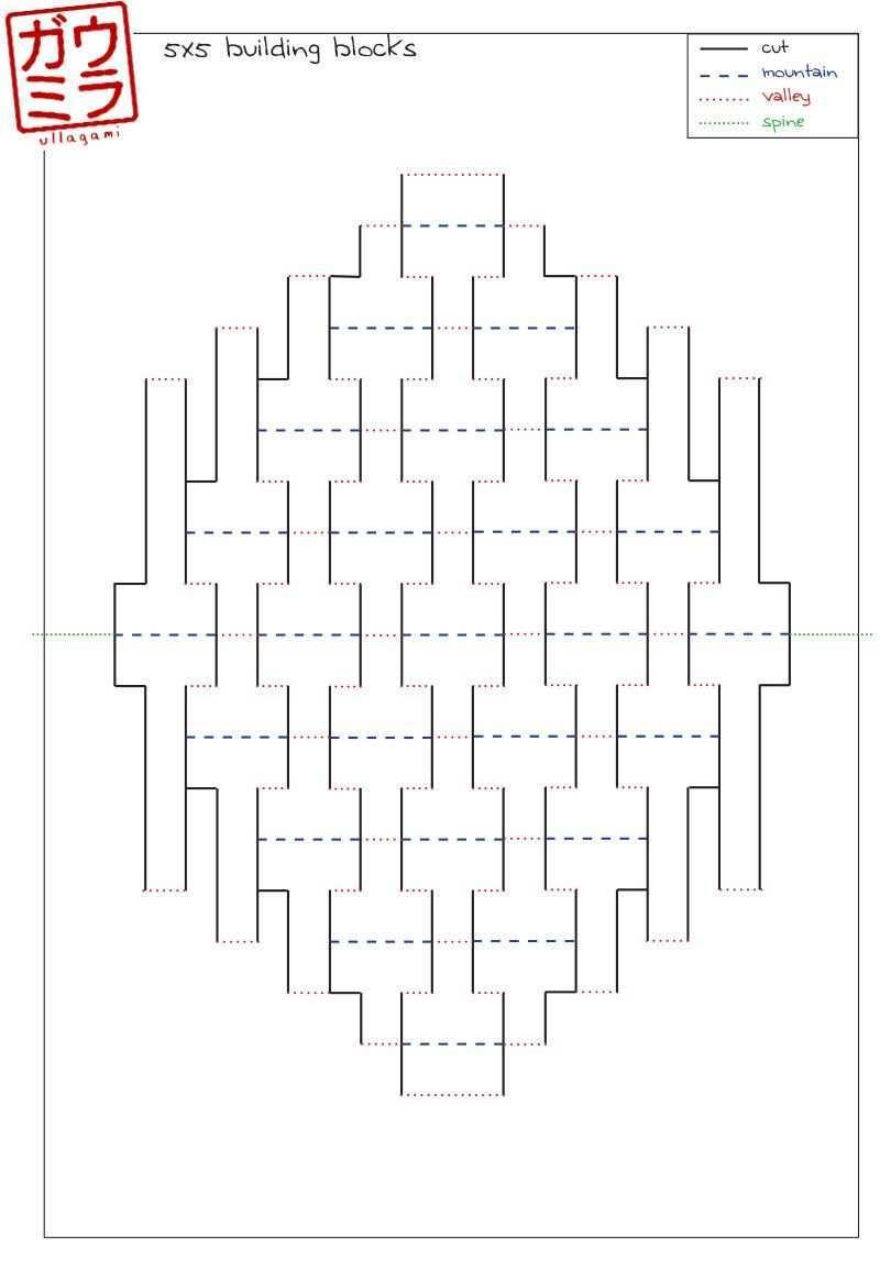 Ullagami How To Geometric Kirigami Pop Ups Kirigami Patterns Kirigami Templates Kirigami