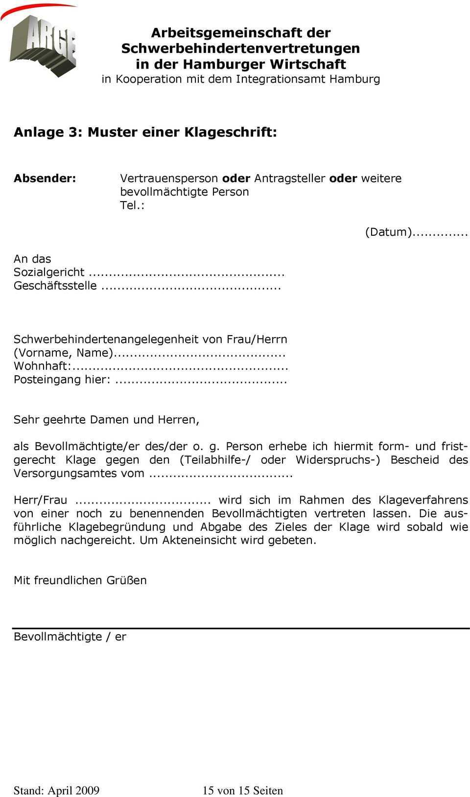 Arbeitsgemeinschaft Der Schwerbehindertenvertretungen In Der Hamburger Wirtschaft In Kooperation Mit Dem Integrationsamt Hamburg Pdf Free Download