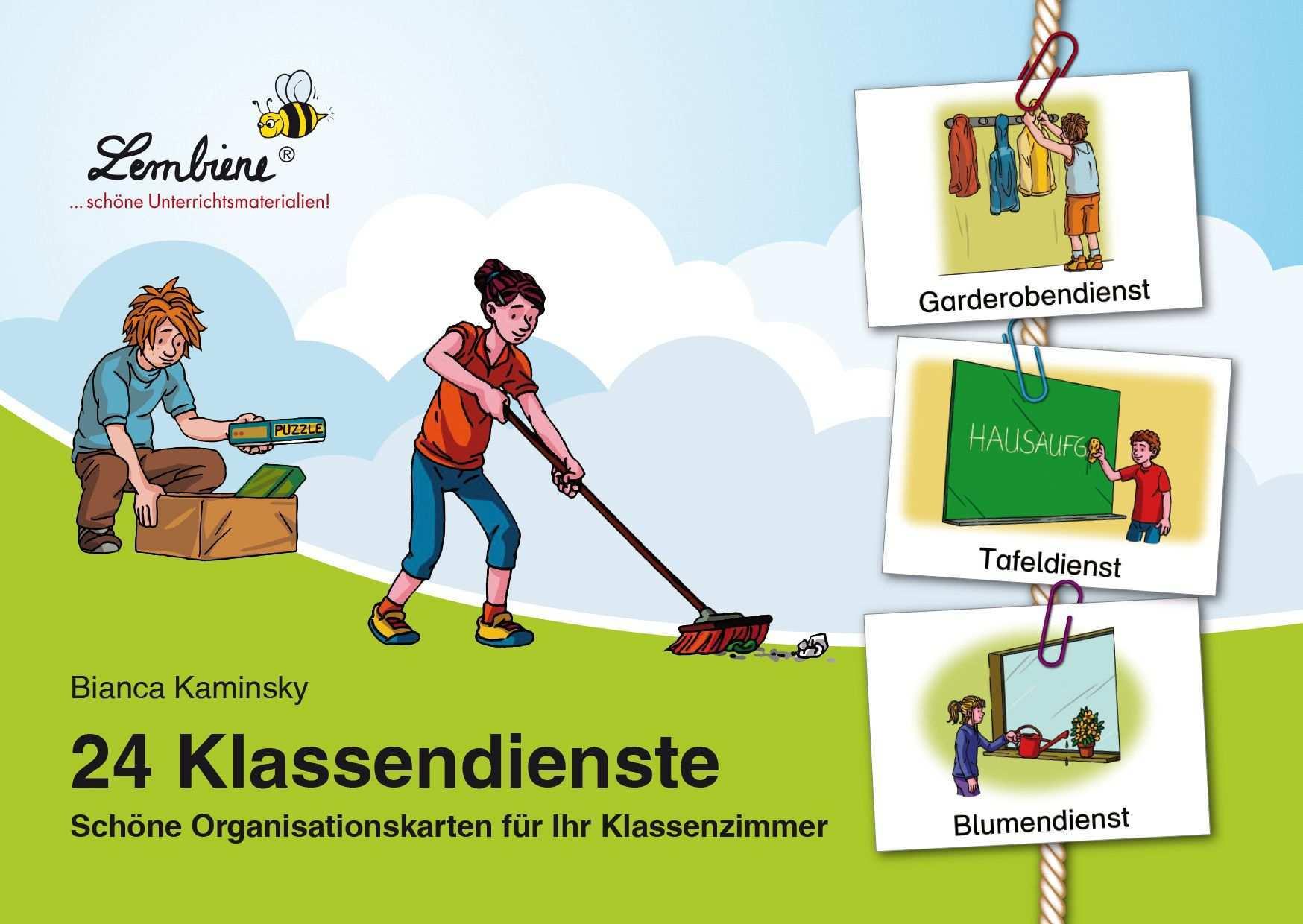 24 Klassendienste Schone Organisationskarten Fur Ihr Klassenzimmer Klassenzimmer Erste Klasse Grundschule
