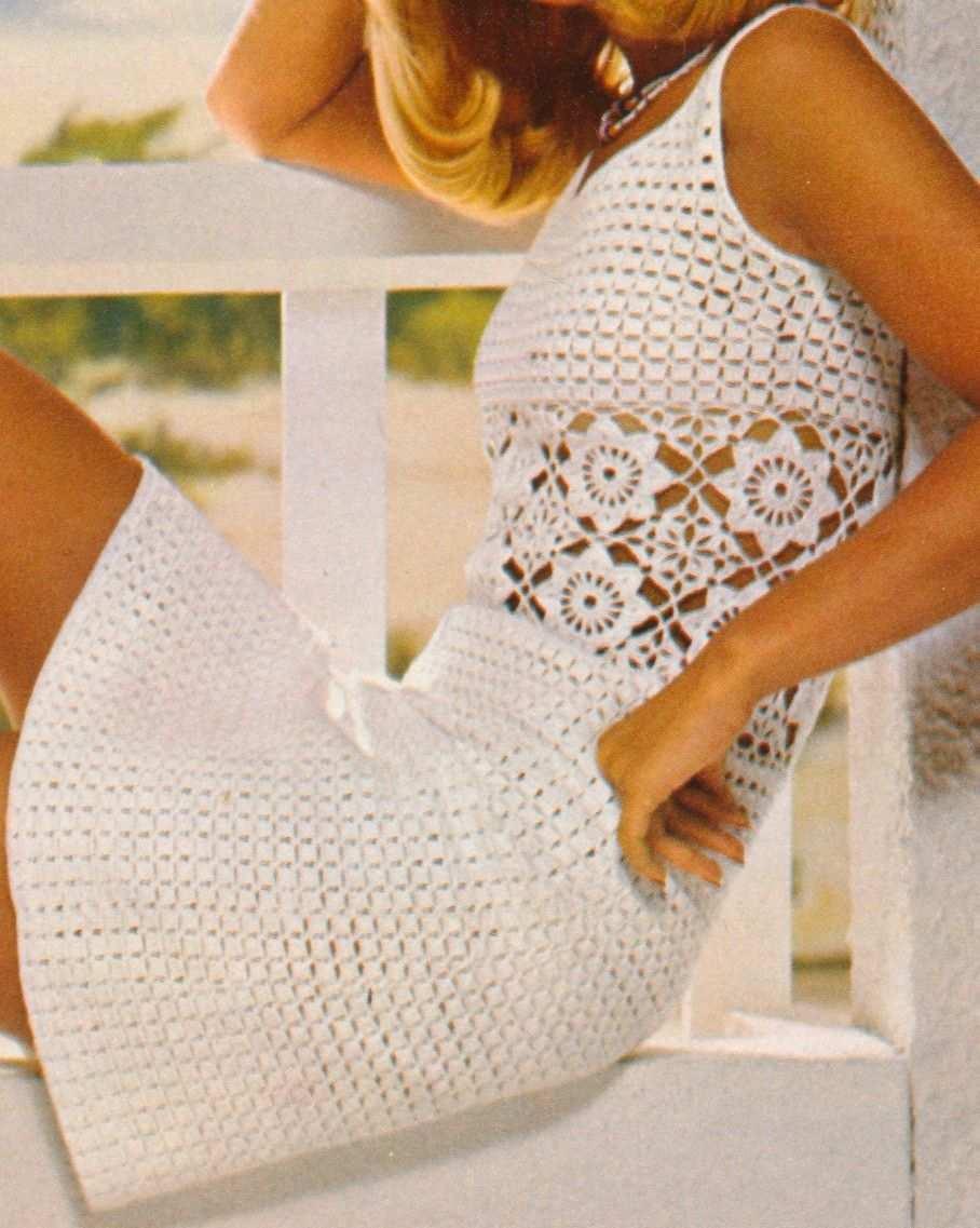 Sommerliches Hakelkleid Kostenlose Hakelanleitung Hakel Strickanleitung Hakelkleid Hakeln Pullover Muster Kleidung Hakeln