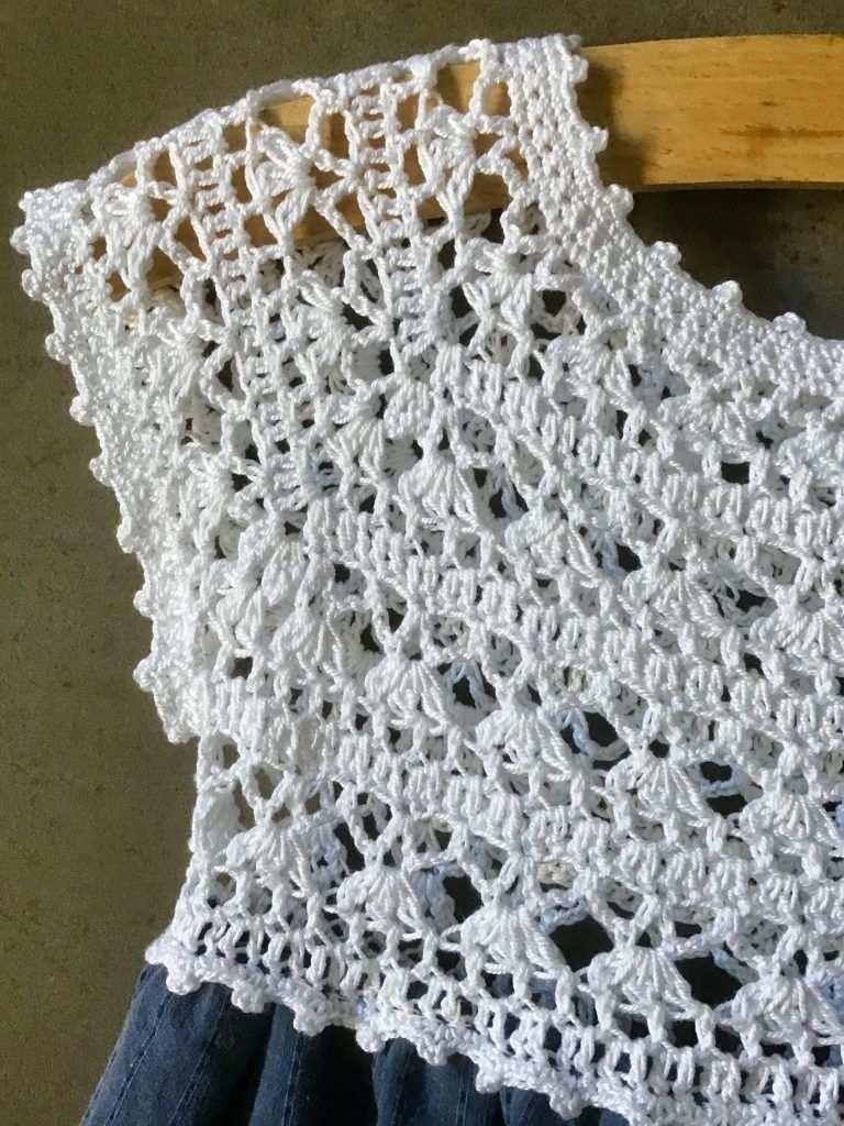 Vestito Bambina Crochet In 2020 Kleidung Hakeln Lace Hakeln Gehakelte Babykleider
