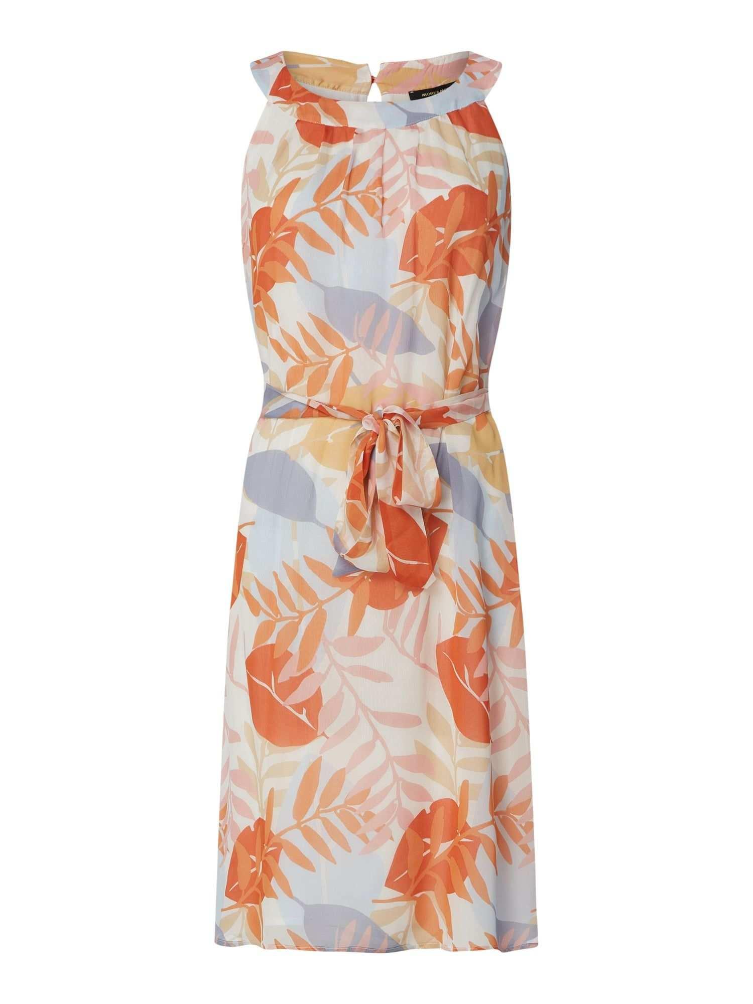 More More Kleid Mit Floralem Muster In Orange Online Kaufen 1101377 P C Online Shop In 2020 More And More Kleid Floral Muster Freizeitkleider