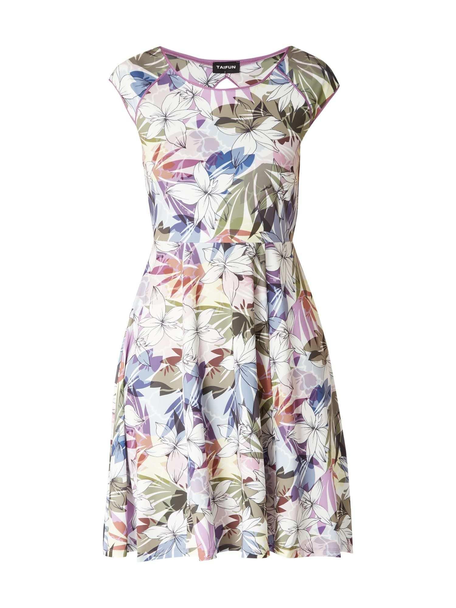 Bei P C Cocktailkleider Von Taifun Jetzt Taifun Kleid Mit Floralem Muster In Grun Online Kaufen 9805951 Floral Muster Kleider Muster