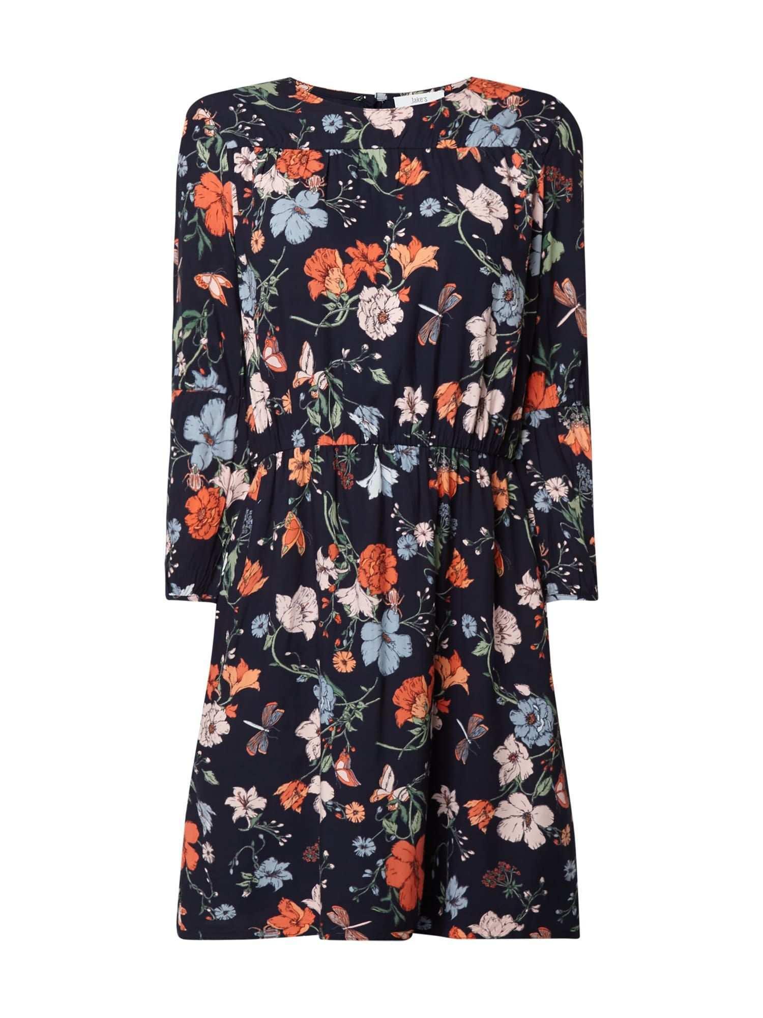 Bei P C Freizeitkleider Von Jakes Jetzt Jakes Kleid Mit Floralem Muster In Blau Turkis Online Kaufen 9793858 Floral Muster Freizeitkleider Kleider