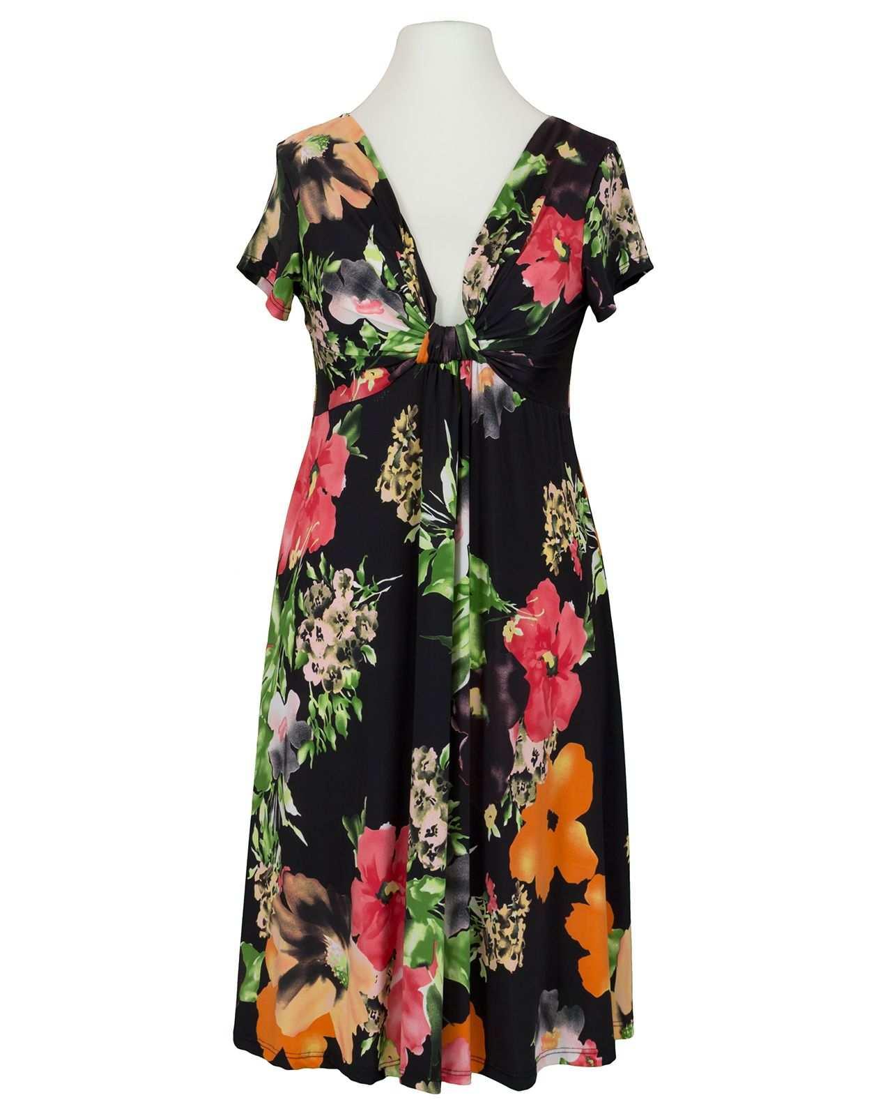 Jerseykleid Floral Schwarz Von Hello Moda In 2020 Kleid Mit Armel Modestil Kleider