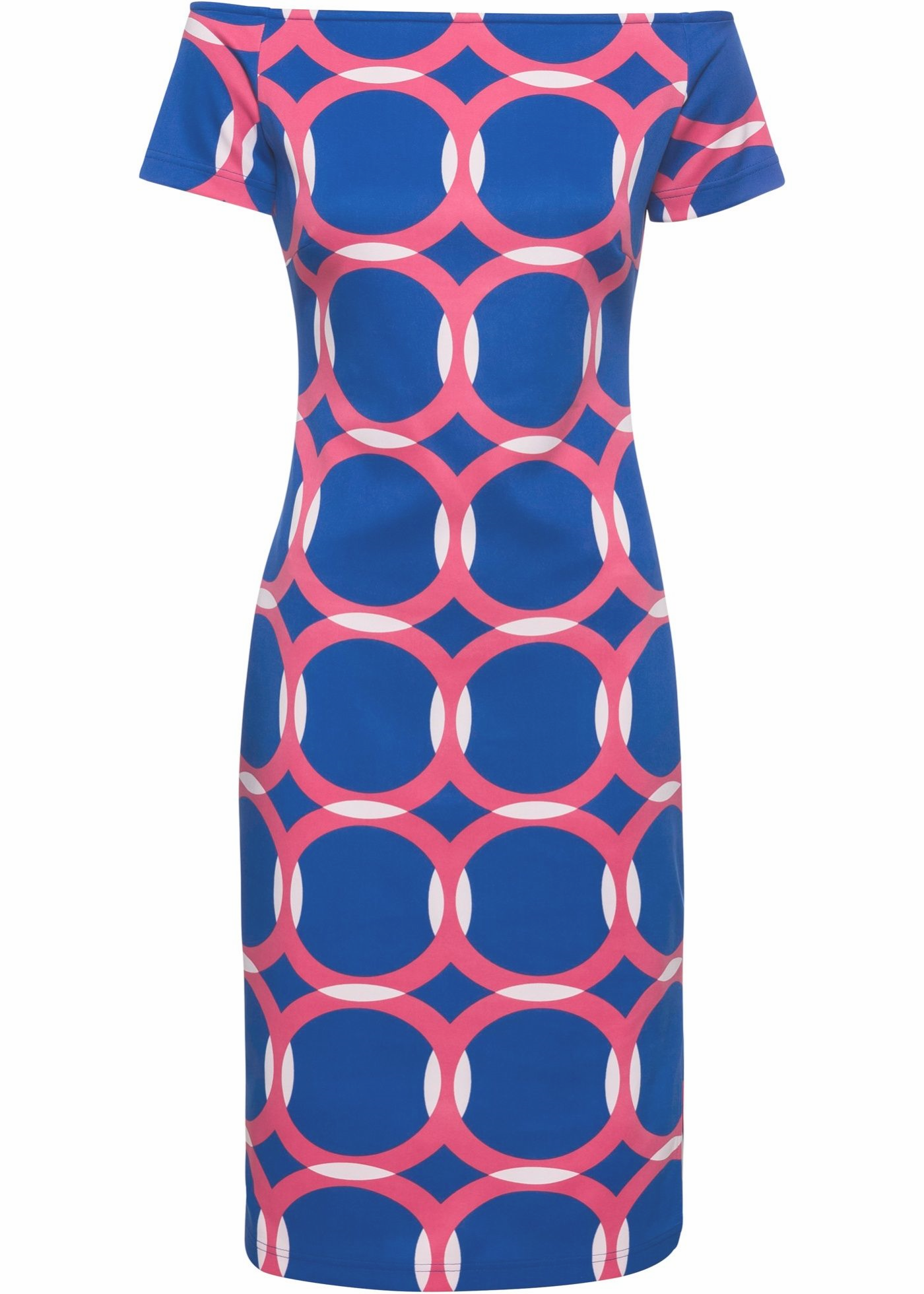 Kleid Mit Warenmuster In 2020 Short Sleeve Dresses Dresses With Sleeves Fashion