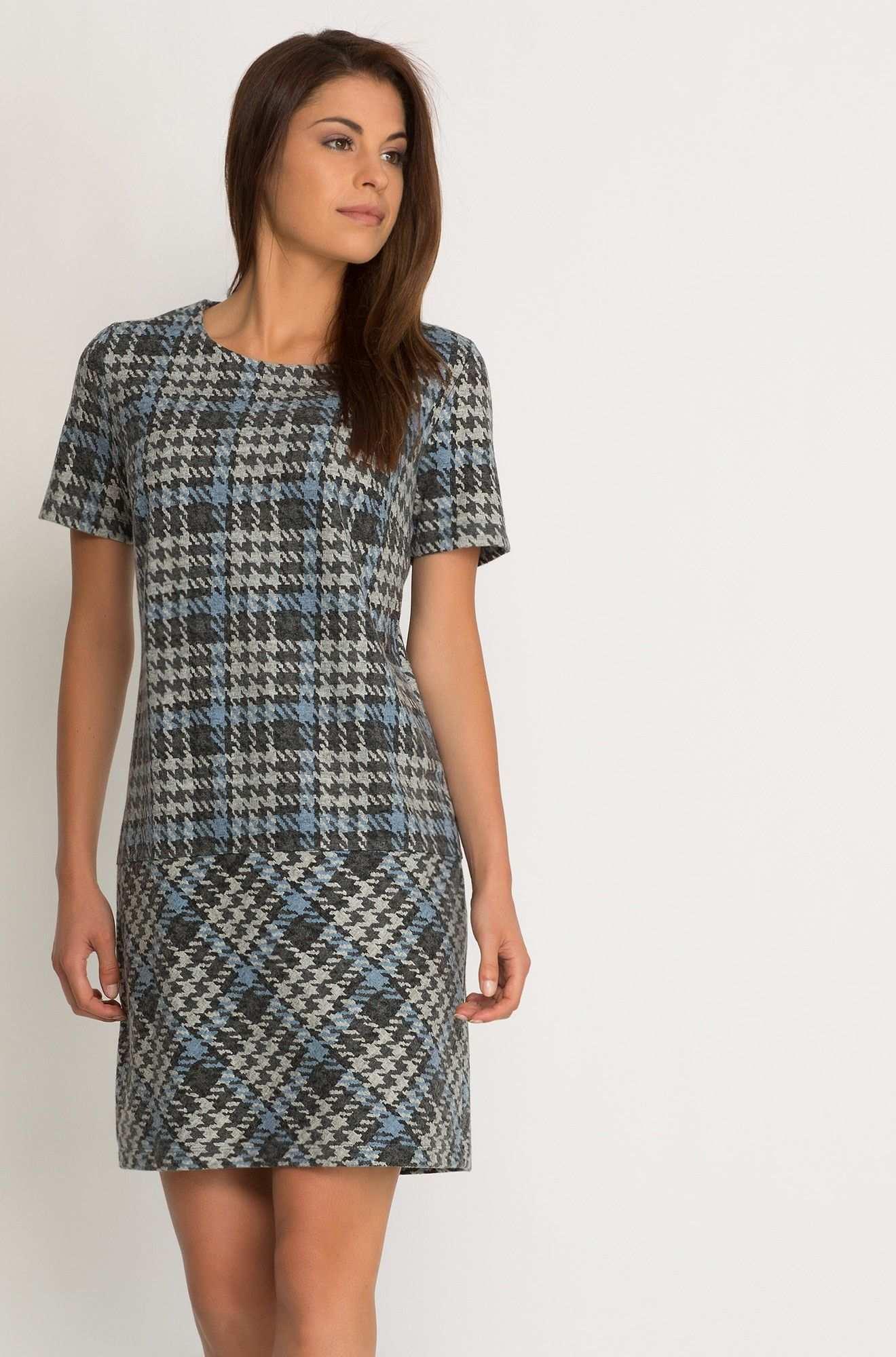 Kleid In Karo Muster Vestido Com Saia Moda Saias
