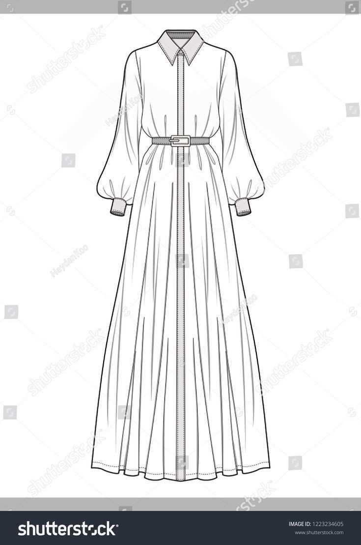 Kleid Mode Technische Zeichnungen Vektor Vorlage Kleid Technische Vektor V Kleid Mode Technische Vektor V Illustration Mode Mode Kleiderdesigns