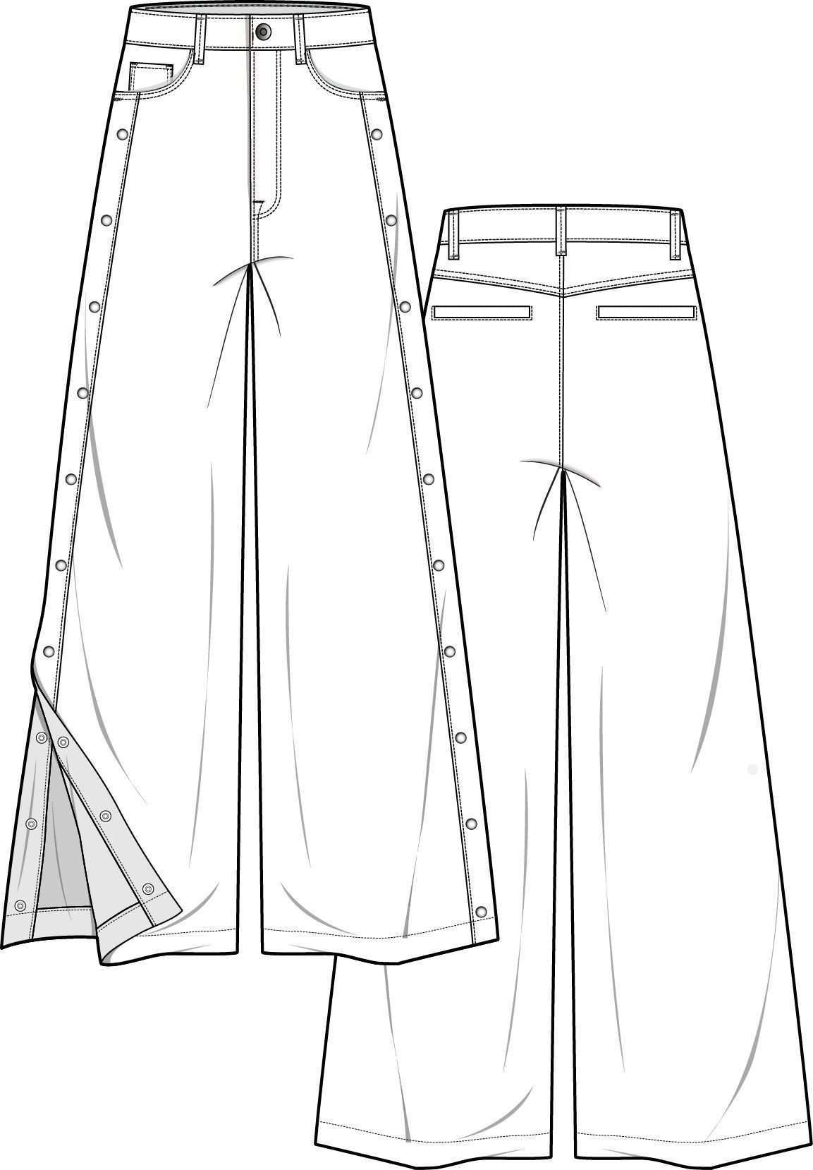 Pants Fashion Flat Technical Drawing Template Pants Fashion Flat Technical Drawing Template Pants Fashio In 2020 Hosen Mode Technische Zeichnung Kleidung Entwerfen