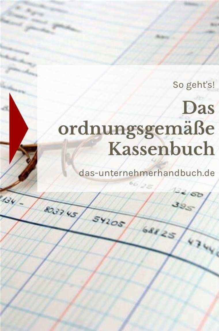 Das Ordnungsgemasse Kassenbuch So Geht S Kassenbuch Buchfuhrung Vorlage Kassenbuch