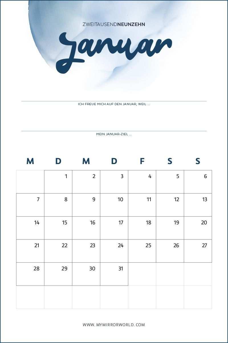 Kalender 2019 Zum Ausdrucken Inkl Anleitung Fur Mehr Achtsamkeit My Mirror World Kalender Zum Ausdrucken Geburtstagskalender Ausdrucken Kalender