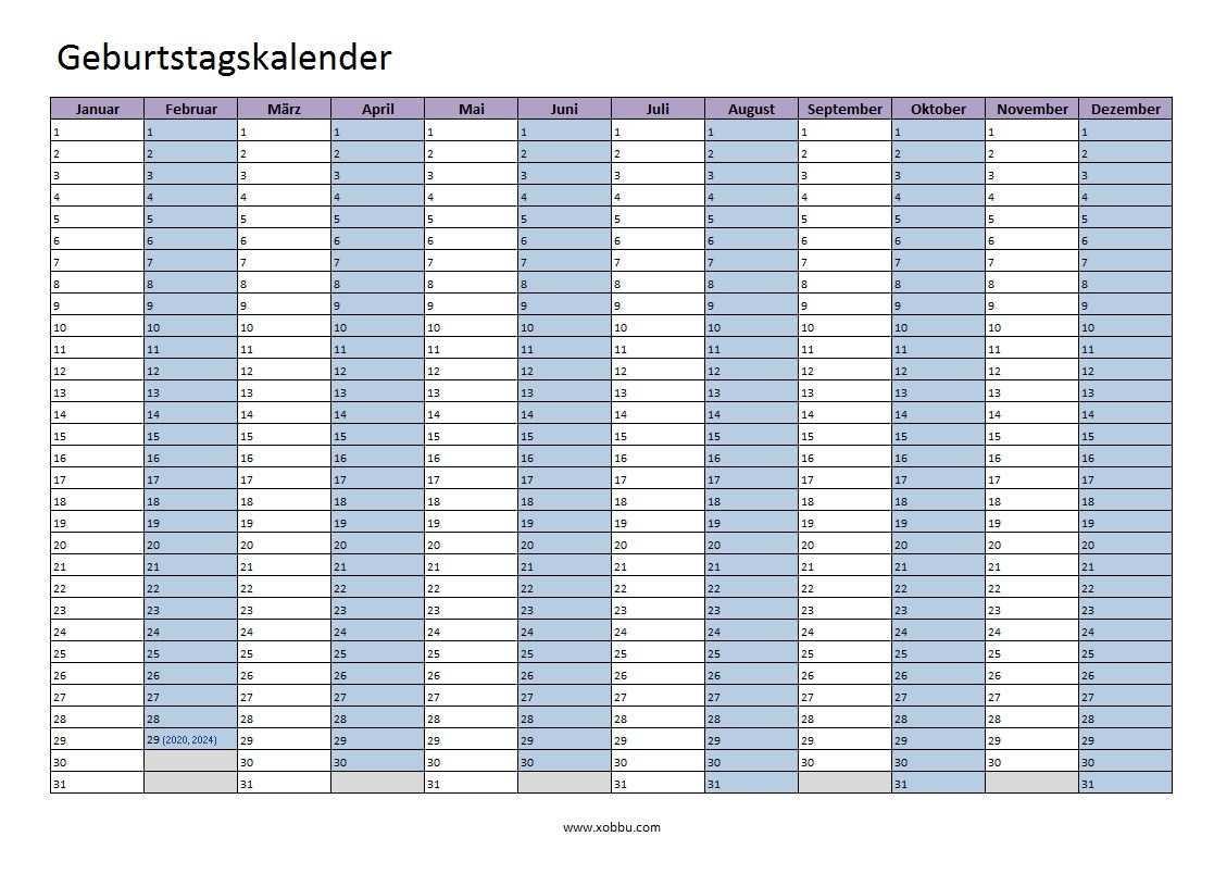 Geburtstagskalender Zum Ausdrucken Pdf Excel Vorlage Xobbu Geburtsagskalender Vorlage Excel Pd Geburtstagskalender Ausdrucken Geburtstagskalender Tage Kalender