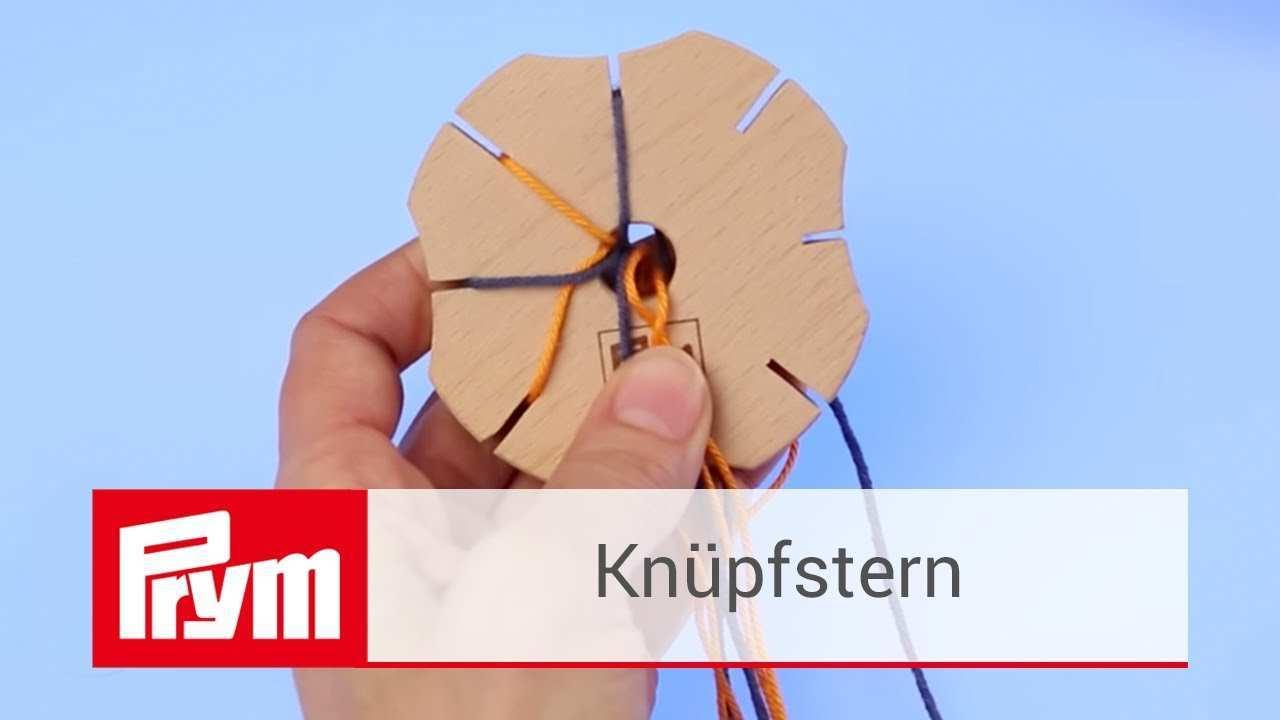 Armbander Knupfen Mit Dem Knupfstern Von Prym Knupfstern Aus Holz Youtube