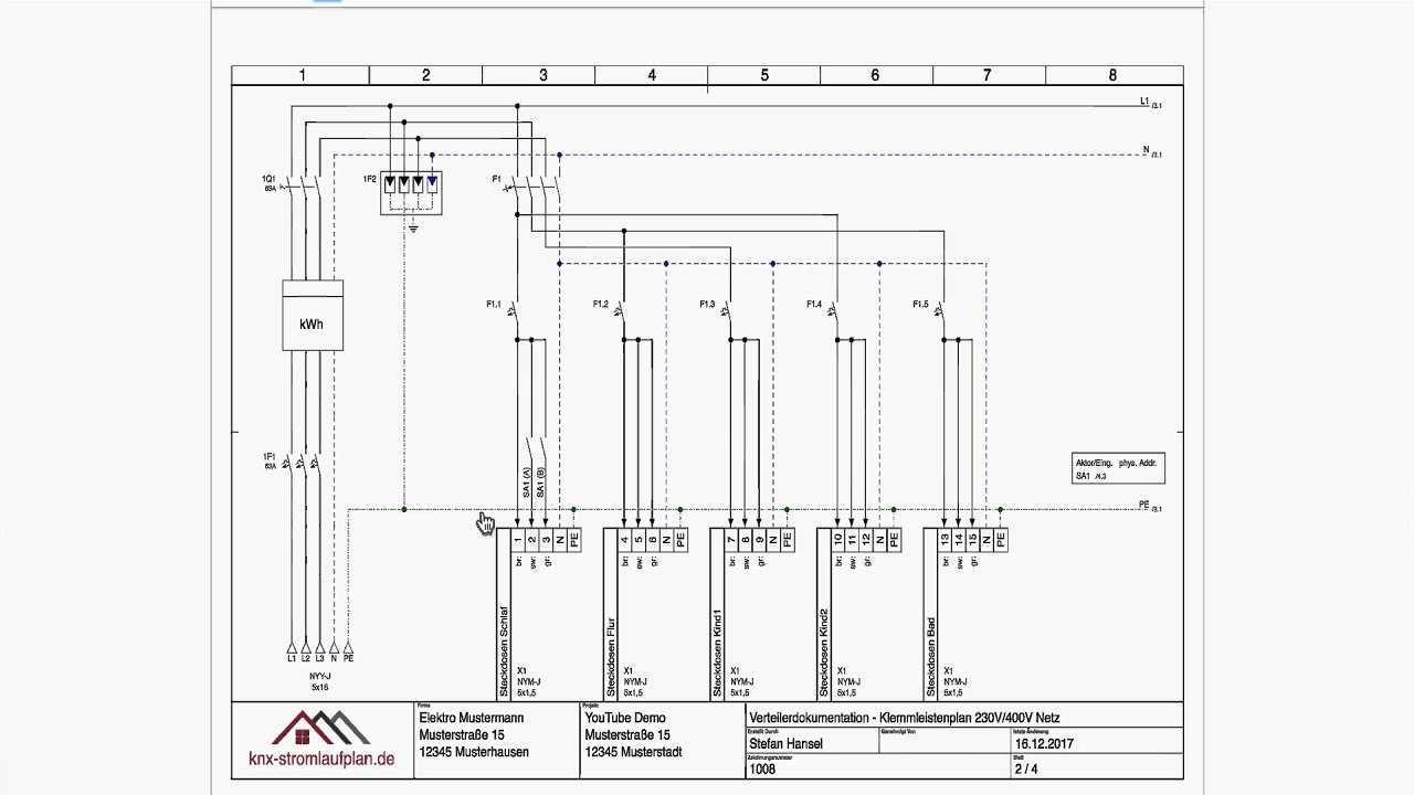 Ein Stromlaufplan Entsteht Teil 3 Knx Komponenten Youtube