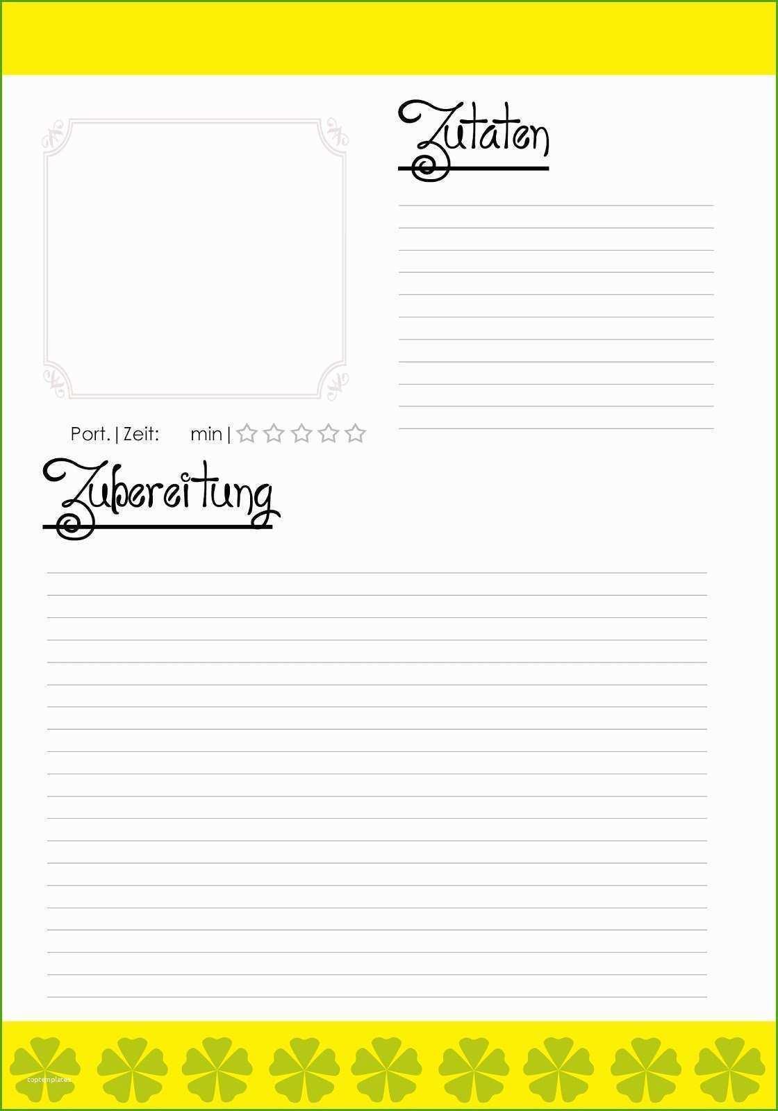 Vorlage Rezept Schone Charmant Rezept Papier Vorlage Bilder Bilder Fur Das Kochbuch Vorlage Kochbuch Selbst Gestalten Vorlagen