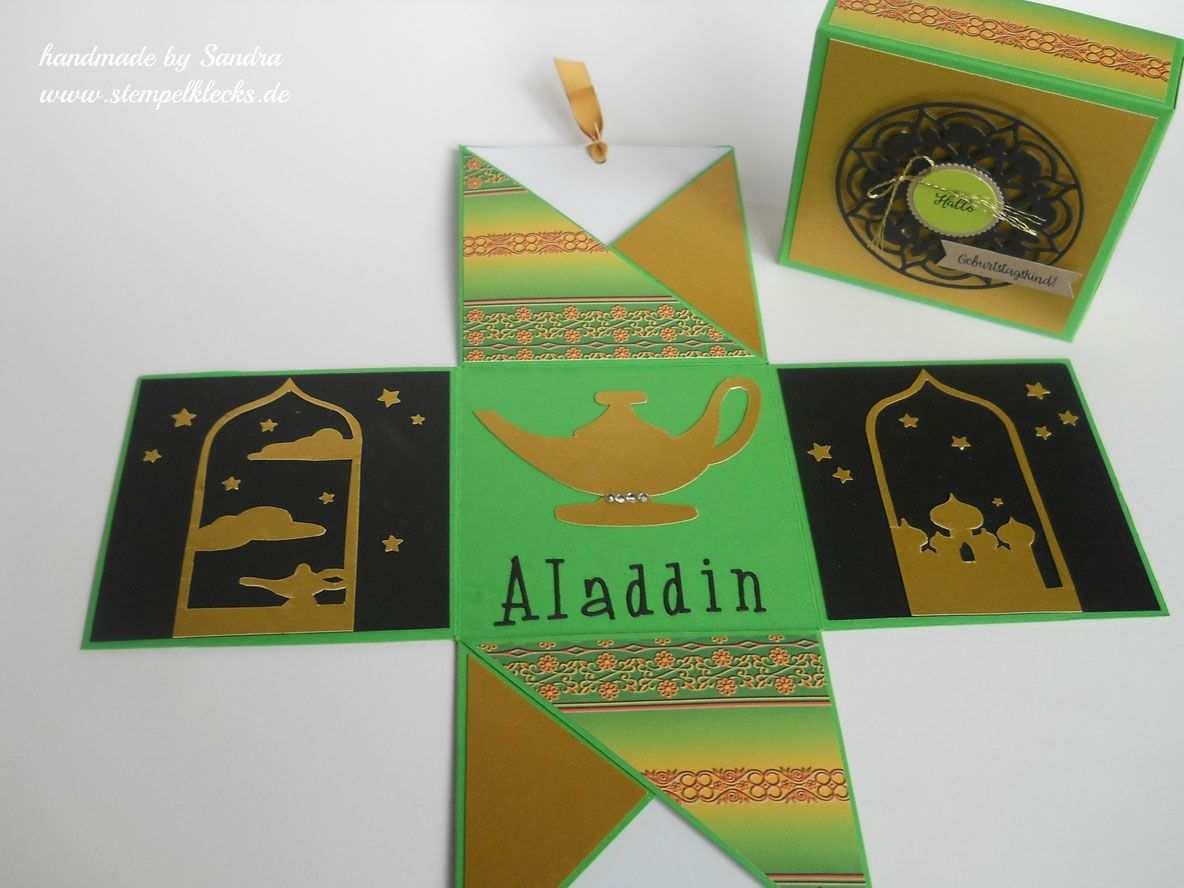 Orientalische Box Aladdin Gutschein Basteln Schachtel Basteln Box