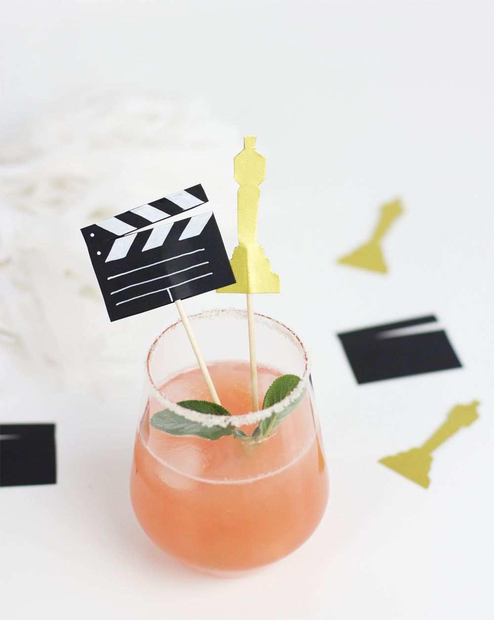 Diy Cocktailstabchen Fur Die Oscars We Love Handmade Oscar Party Anleitungen Diy Anleitungen