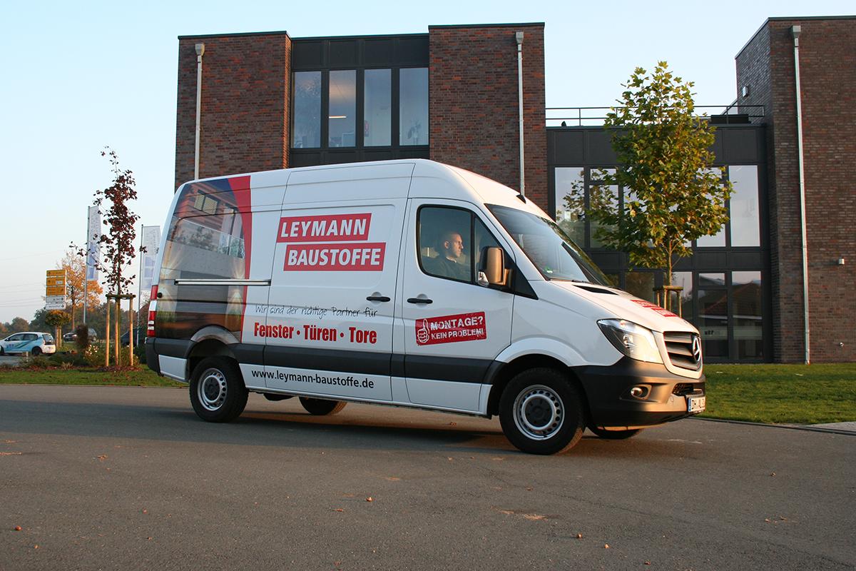 Fahrzeugbeschriftung Mercedes Sprinter Des Baustoffhandels Leymann Baustoffe In Sulingen Vehicles Van Car