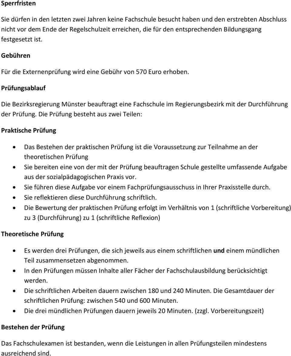 Informationen Zur Externenprufung Zur Erzieherin Zum Erzieher Pdf Free Download