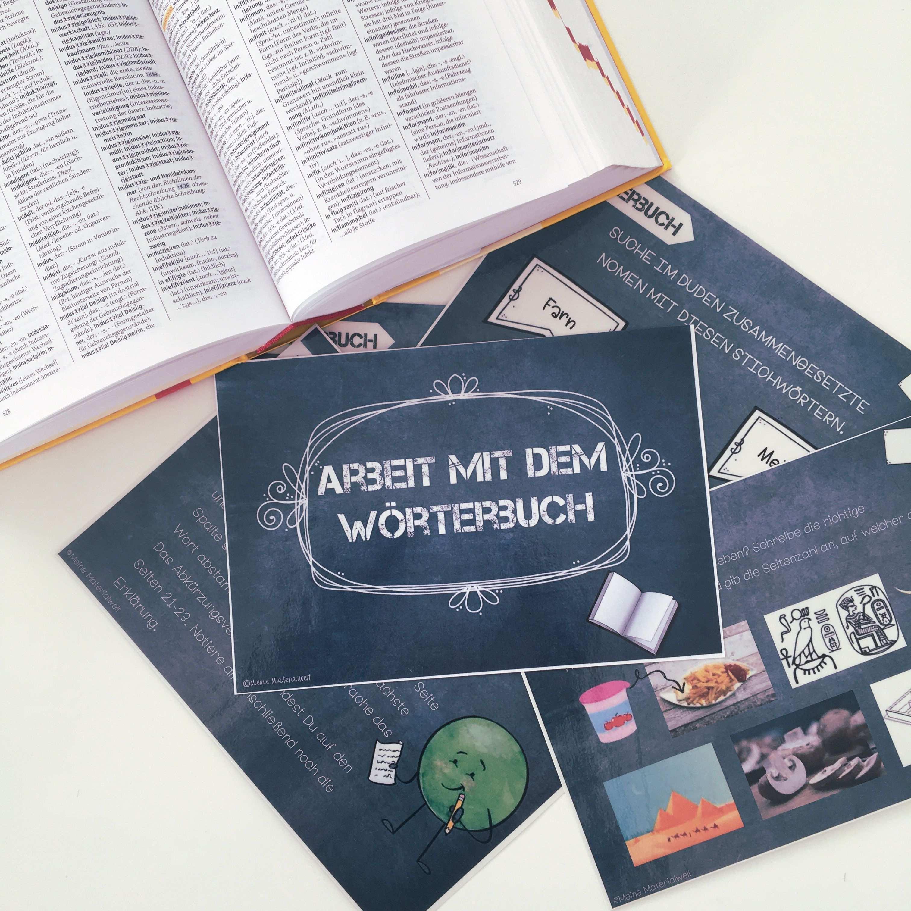 Umgang Mit Dem Worterbuch Monstersale Unterrichtsmaterial Im Fach Deutsch In 2020 Worterbuch Unterrichtsmaterial Duden