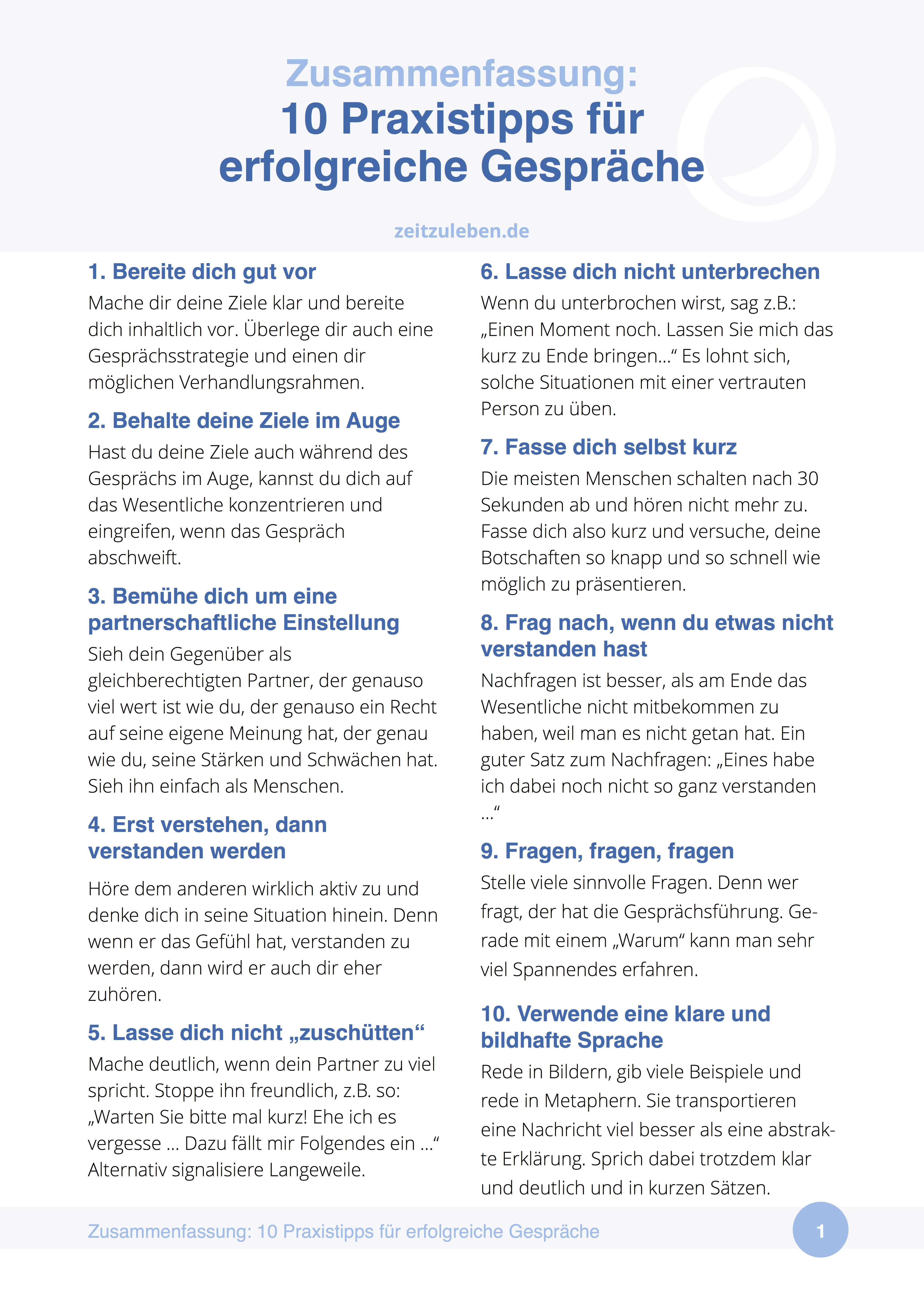 10 Praxistipps Fur Erfolgreiche Kommunikation Rhetorik Kommunikation Zusammenfassung