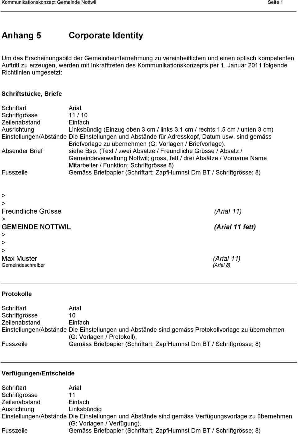 Kommunikationskonzept Gemeinde Nottwil Pdf Kostenfreier Download