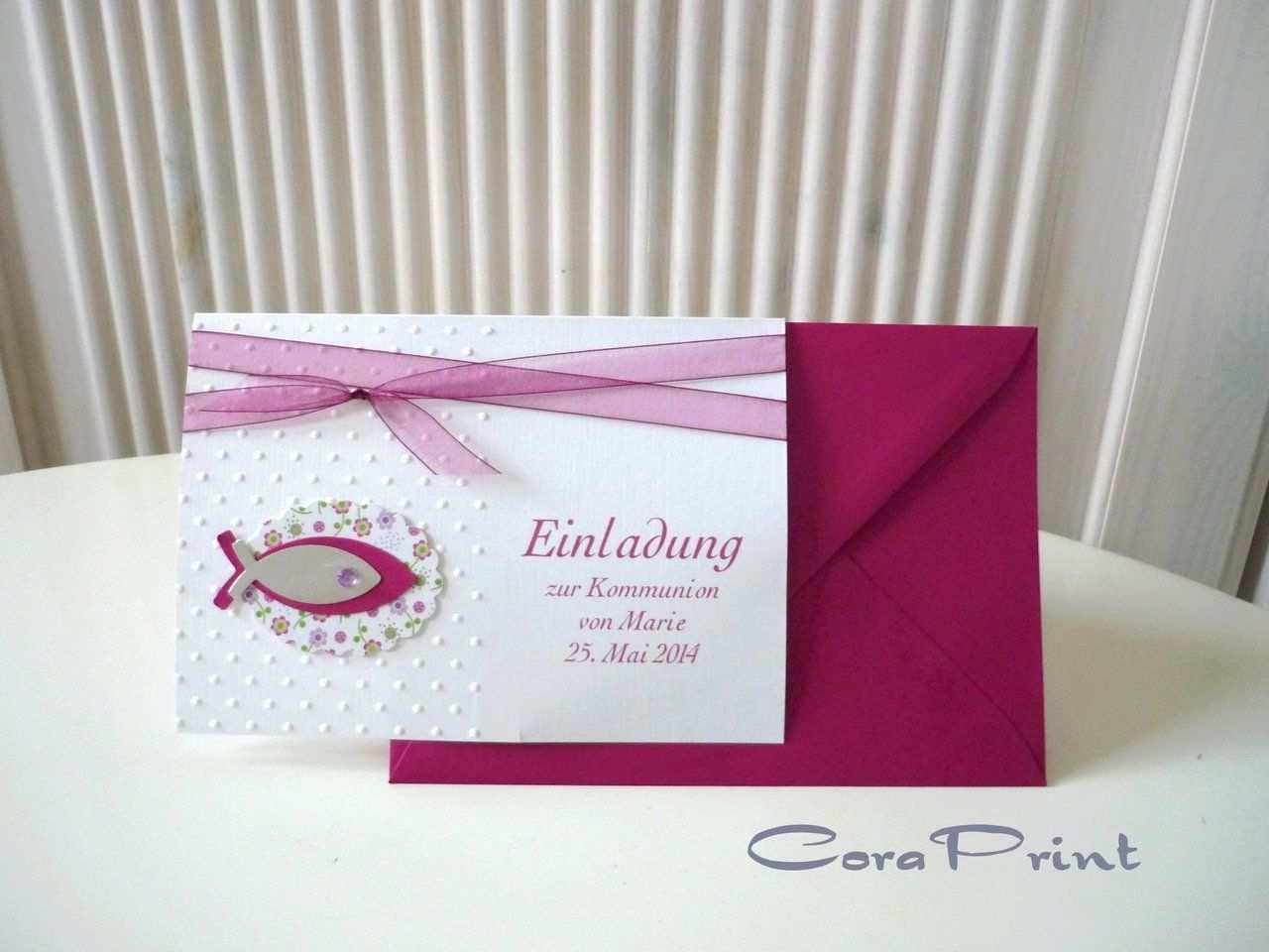 Einladungskarten Kommunion Selber Basteln Kostenlos Einladung Kommunion Einladungskarten Kommunion Einladungskarten Selber Basteln