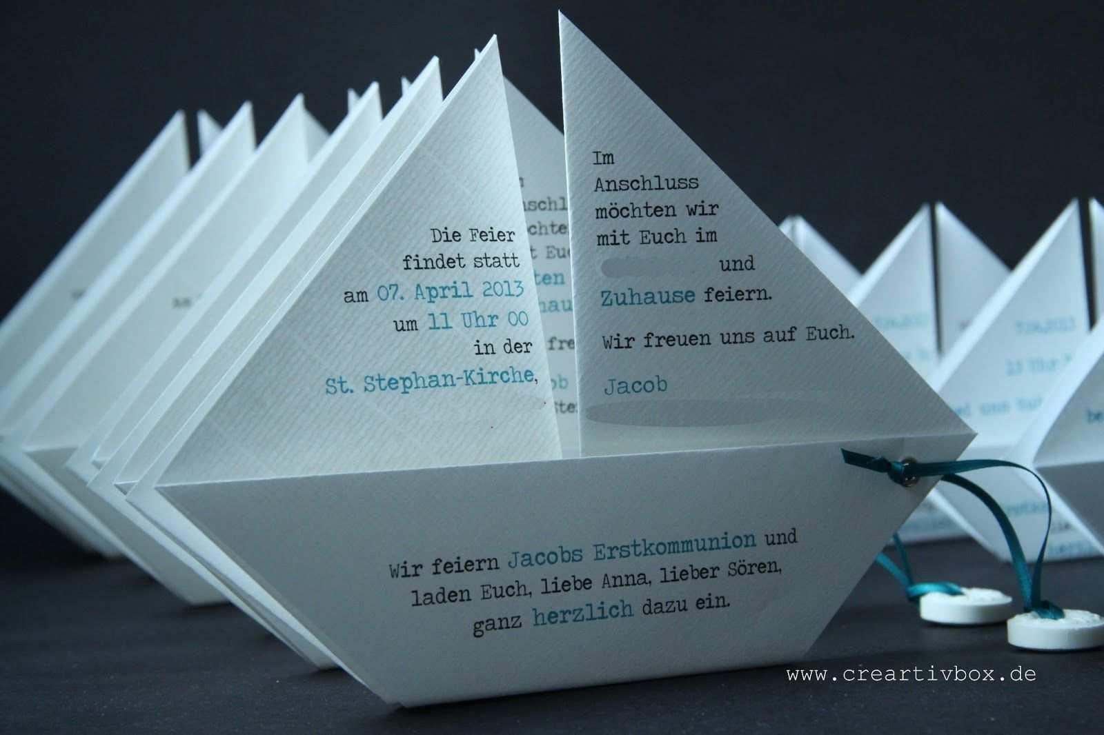 Paperboat 019 Jpg 1 600 1 066 Pixel Einladungskarten Kommunion Einladung Kommunion Einladung Konfirmation