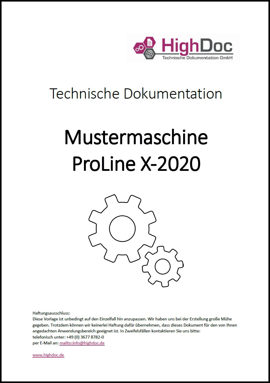 Betriebsanleitung Erstellen Technische Dokumentation