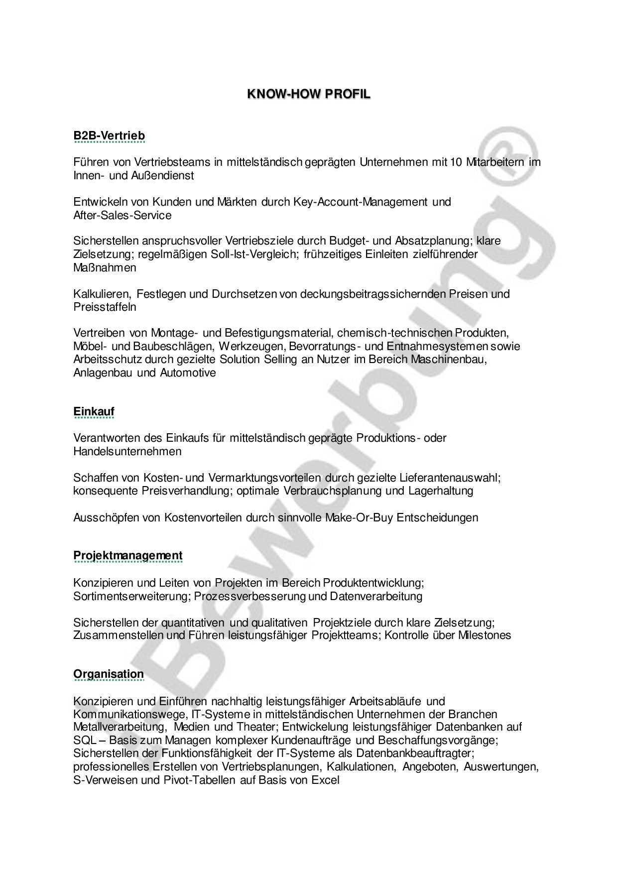 Qualifikationsprofil Betriebswirt Vorlage Stellenbewerbung Betriebswirt Bewerbung