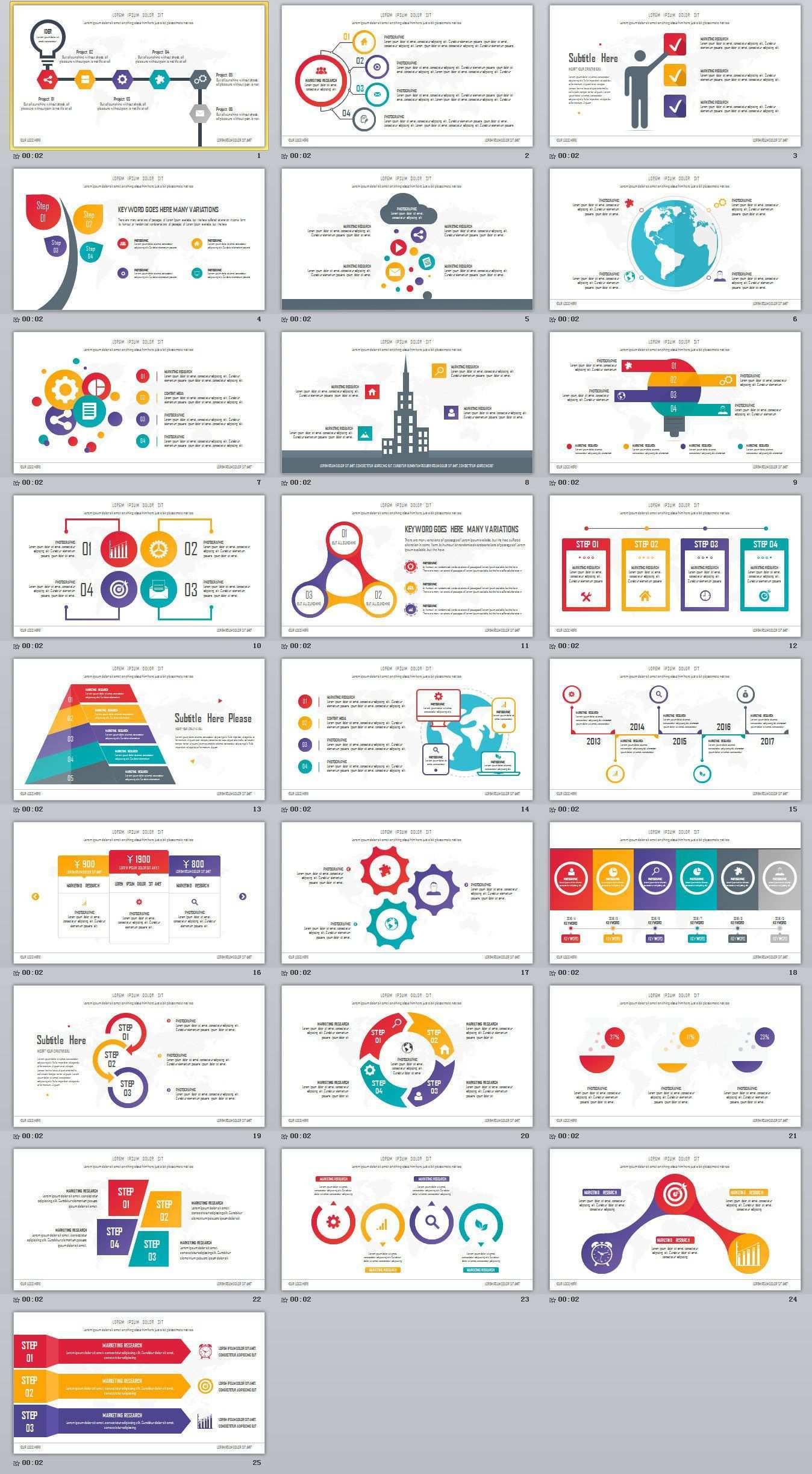 25 Best Infographic Presentation Powerpoint Templates On Behance Powerpoint Templates Modelos Infograficos Ideias Para Apresentacoes Organograma Empresarial