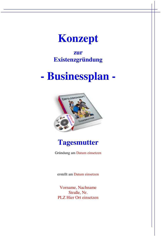 Konzept Businessplan Pdf Kostenfreier Download