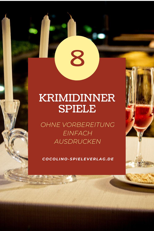 8 Krimidinner Spiele Ohne Vorbereitung Einfach Ausdrucken Krimi Dinner Dinner Krimi